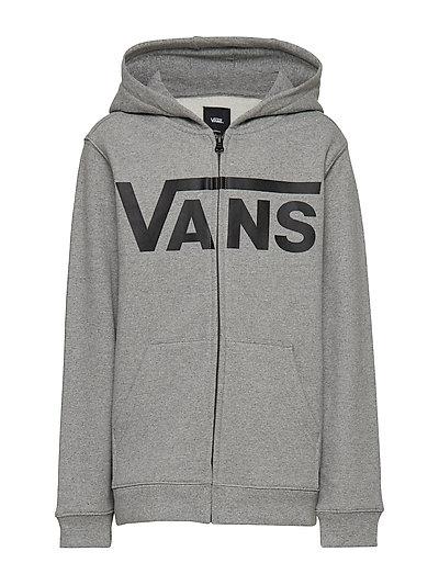 Vans Classic Zip Hoodie Ii Boys (Cement Heatherblack) (374.25 kr) VANS  