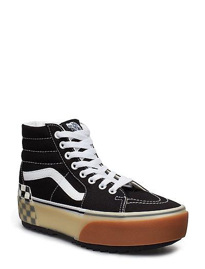 VANS Ua Sk8-Hi Stacked Black/Checkerbo Hohe Sneaker Schwarz VANS