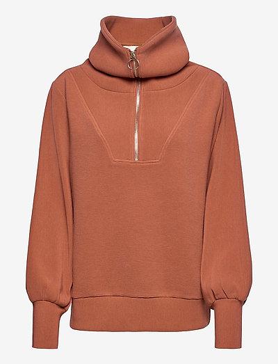 Vine Half Zip - sweatshirts et sweats à capuche - brown patina