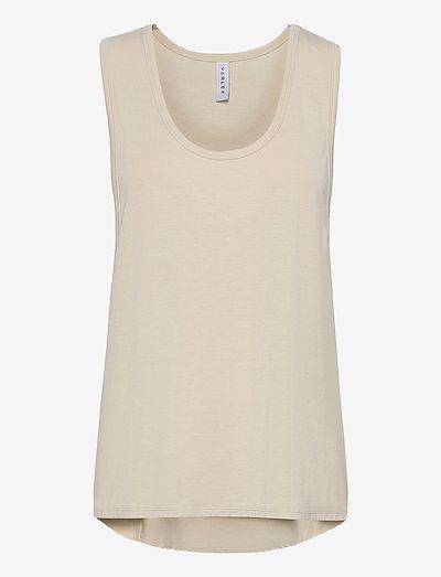 Elenda Top - sleeveless tops - bone white