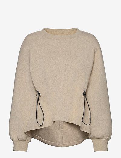 Bella Sweat - sweatshirts en hoodies - ivory marl