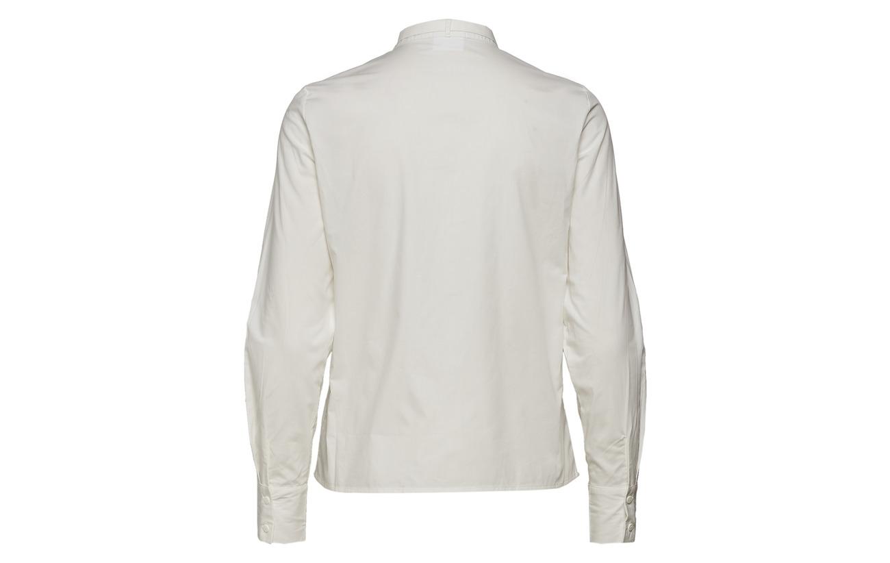 Organic Bow Shirt 50 Coton Snow White Vero Ga Moda L Vmeagle Tie s 677Iq4