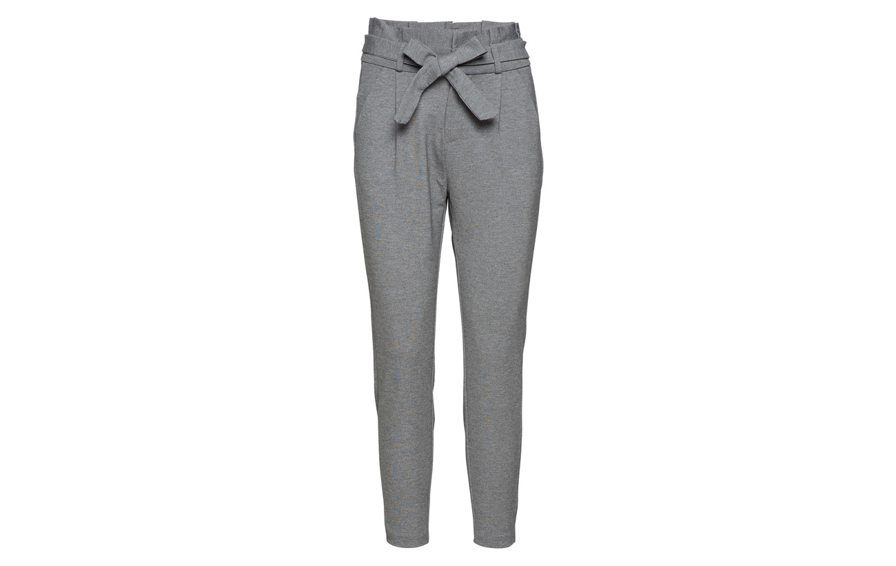 30 Grey 65 Vero Ki Vmeva Loose 5 Paperbag Hr Pant Medium Moda Melange Elastane Nylon Viscose Noos qPRwPO