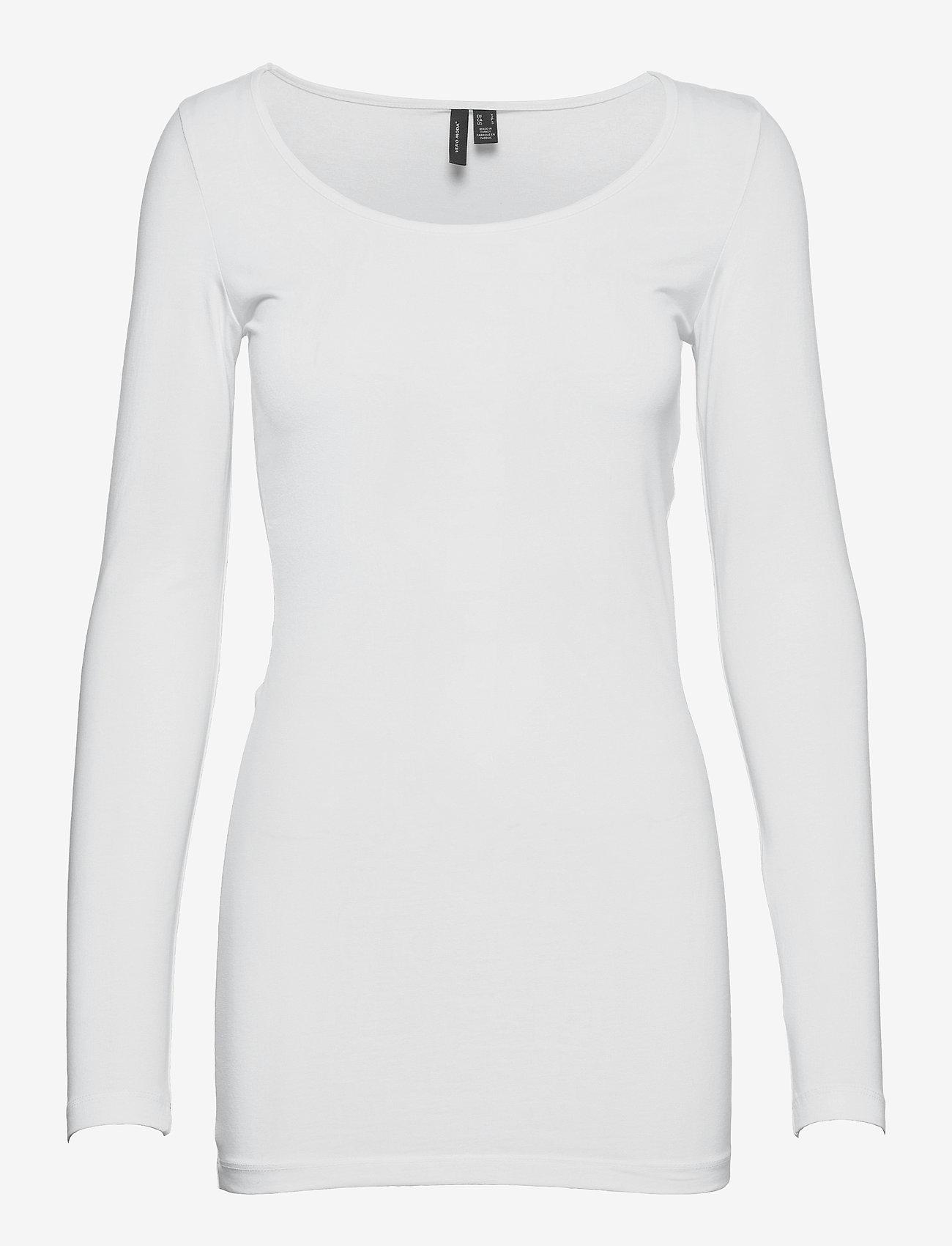 Vero Moda - VMMAXI MY LS SOFT LONG U-NECK GA - långärmade toppar - bright white - 0