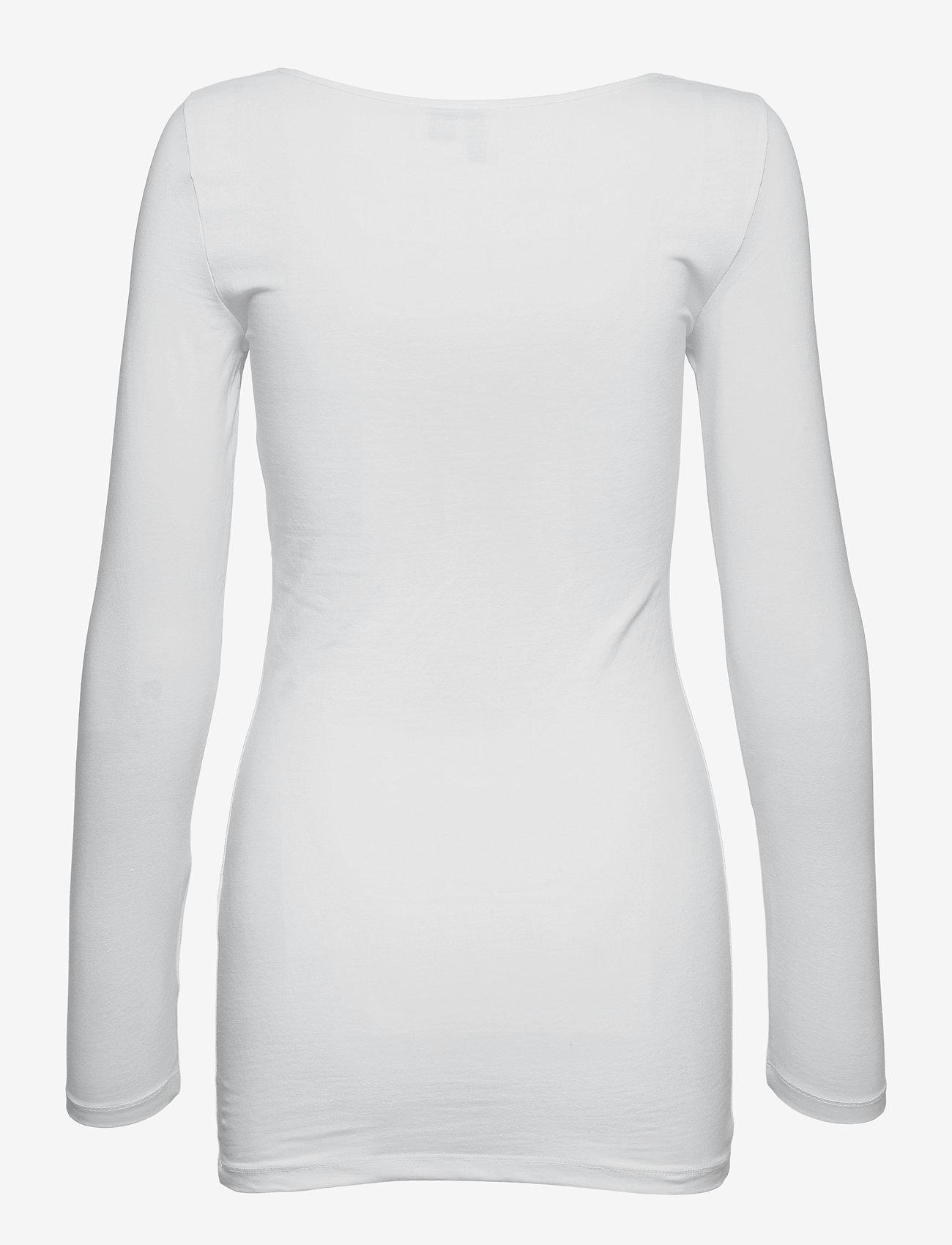 Vero Moda - VMMAXI MY LS SOFT LONG U-NECK GA - långärmade toppar - bright white - 1