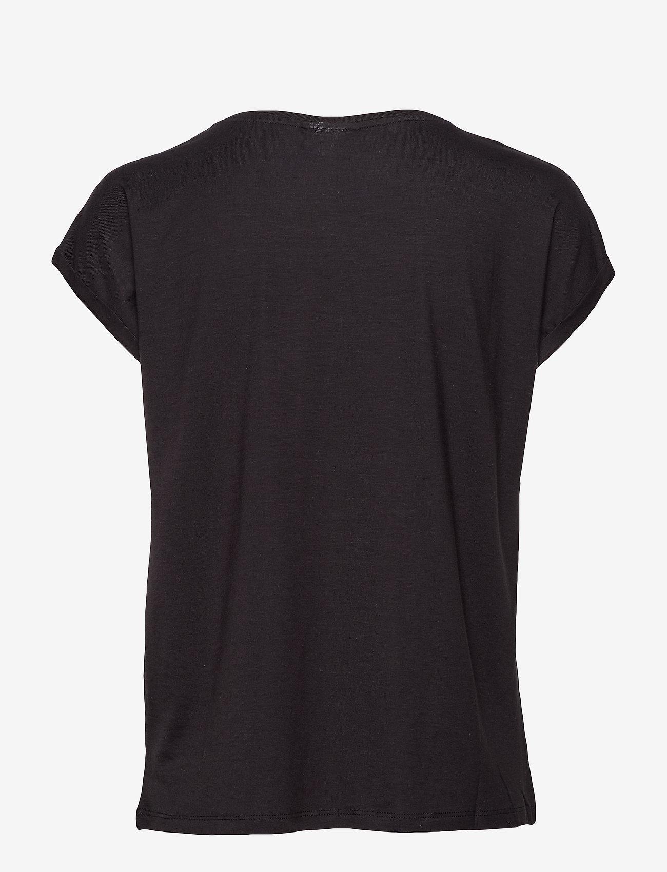 Vero Moda - VMAVA PLAIN SS TOP GA - t-shirts - black - 1