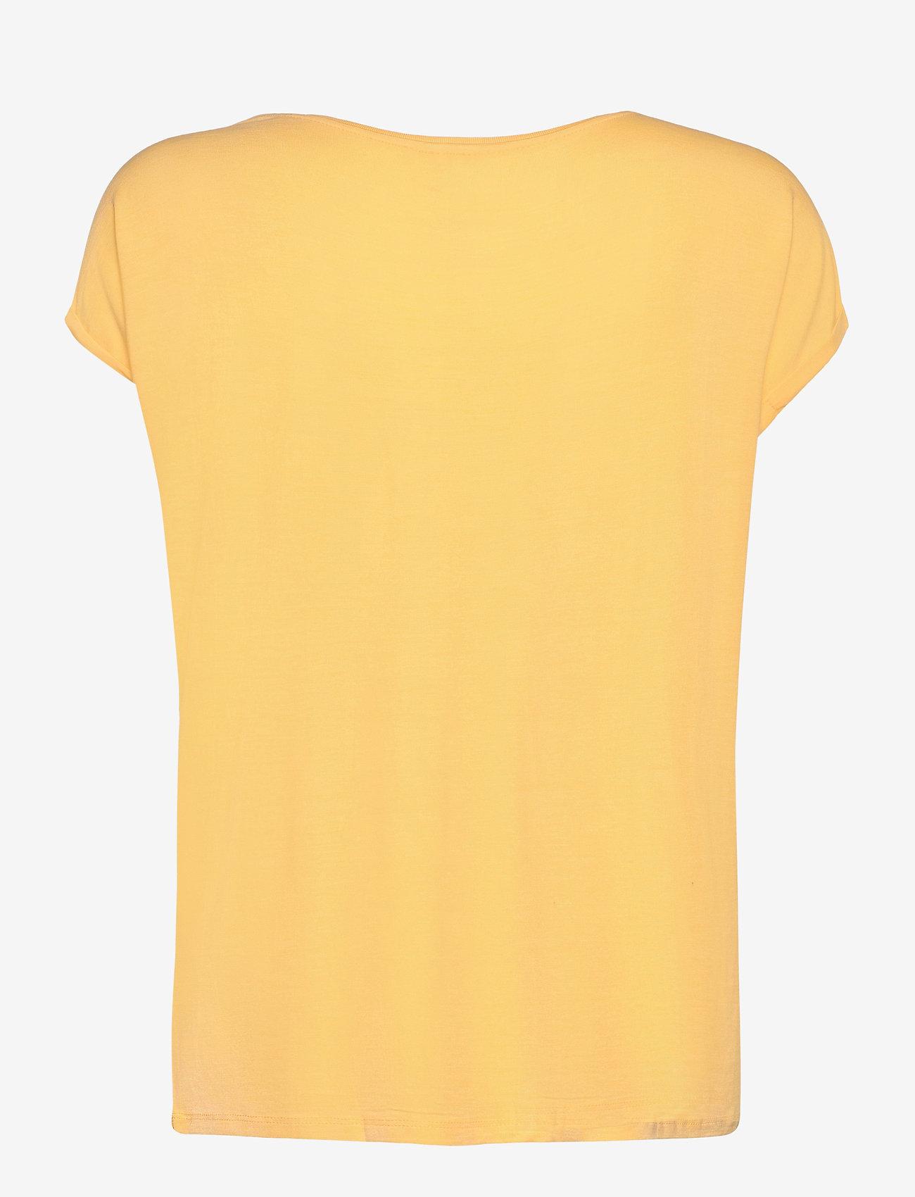 Vero Moda - VMAVA PLAIN SS TOP GA NOOS - t-shirts - cornsilk - 1