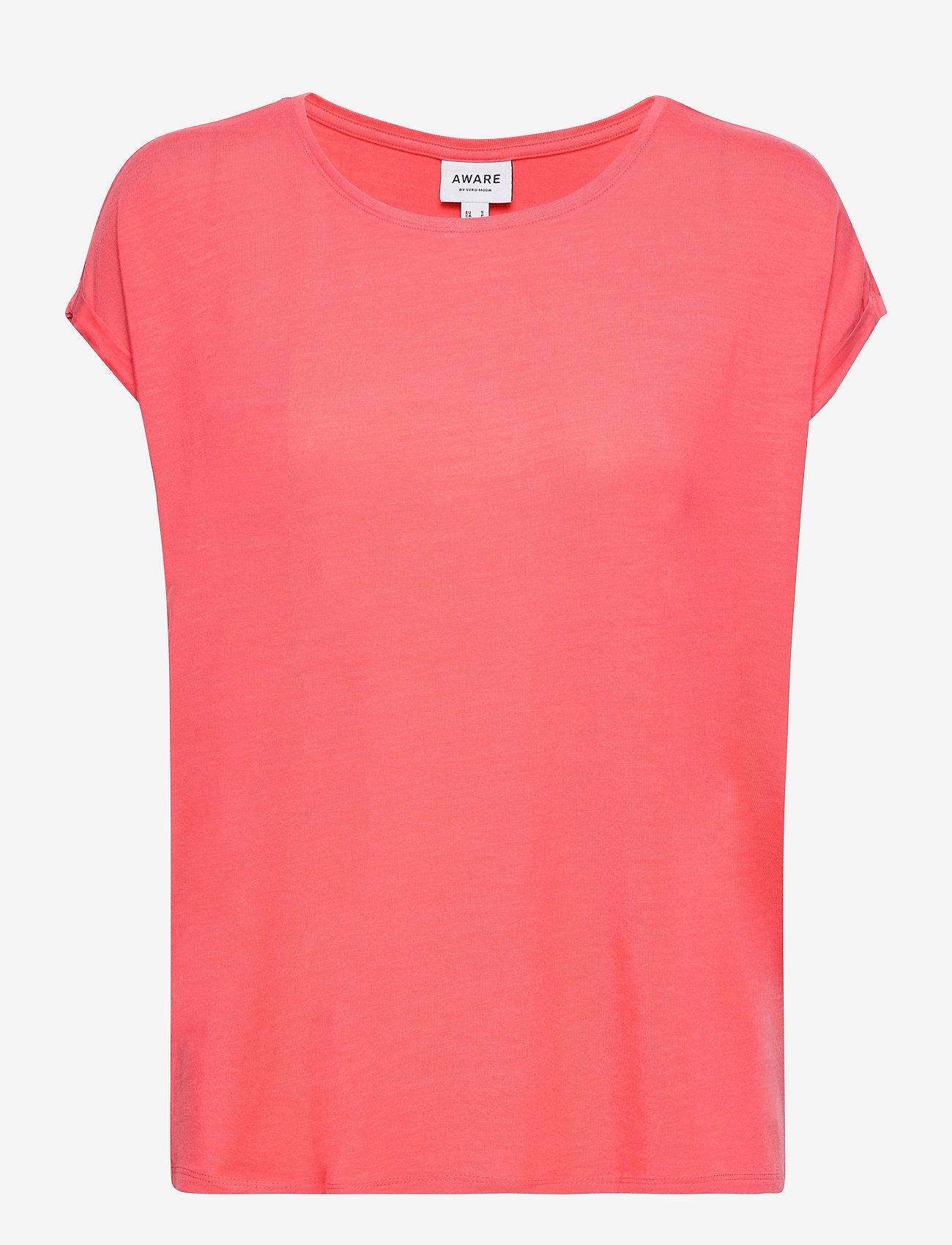 Vero Moda - VMAVA PLAIN SS TOP GA - t-shirts - dubarry - 0