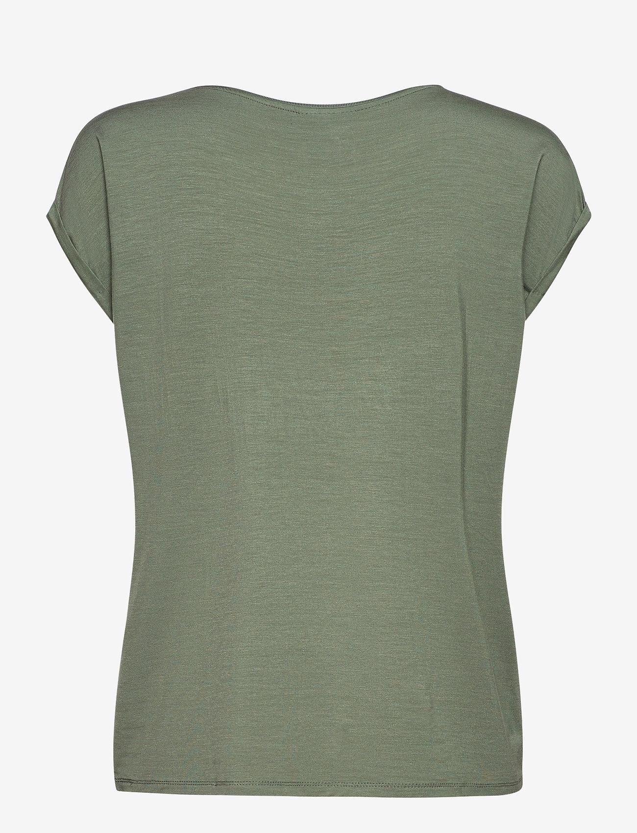 Vero Moda - VMAVA PLAIN SS TOP GA - t-shirts - laurel wreath - 1