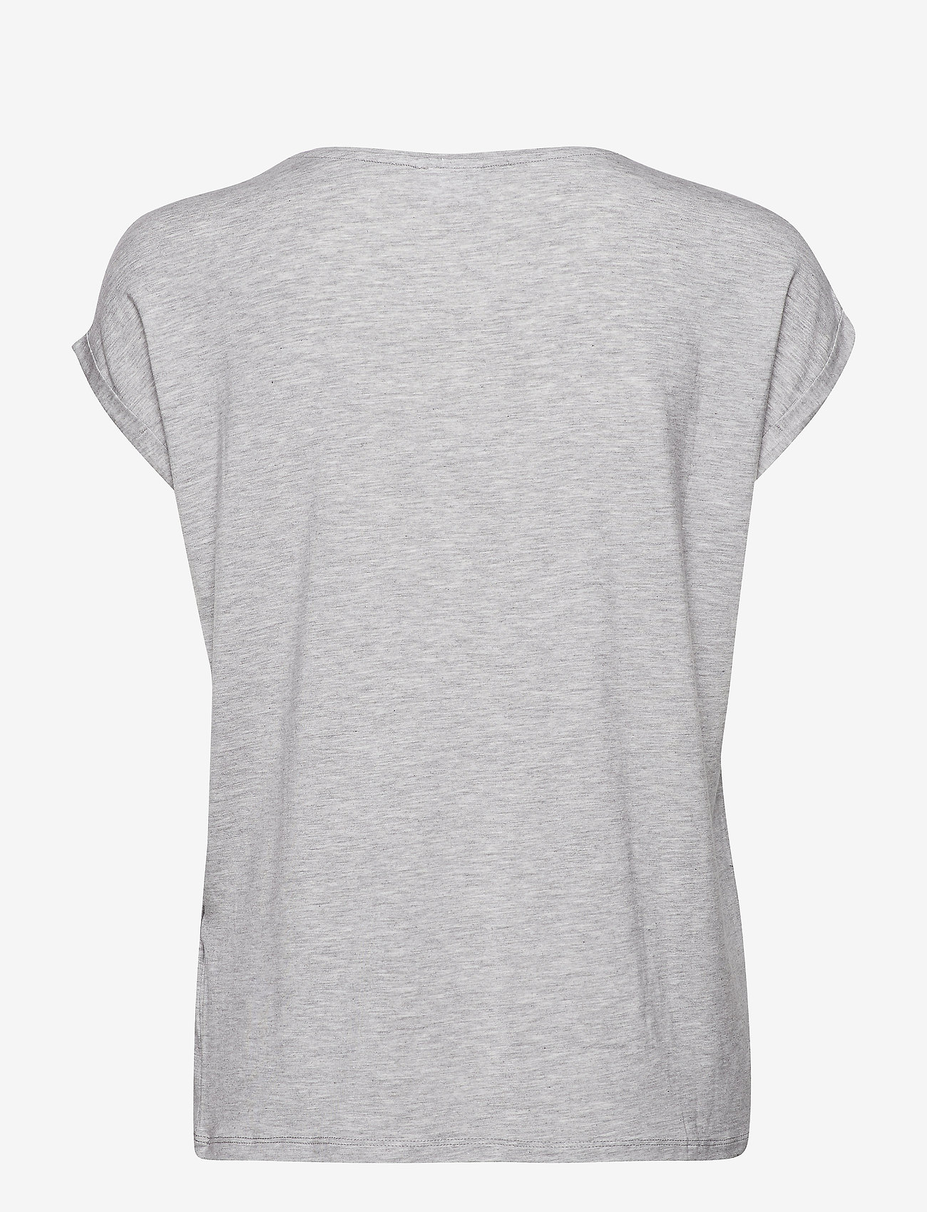 Vero Moda - VMAVA PLAIN SS TOP GA - t-shirts - light grey melange - 1