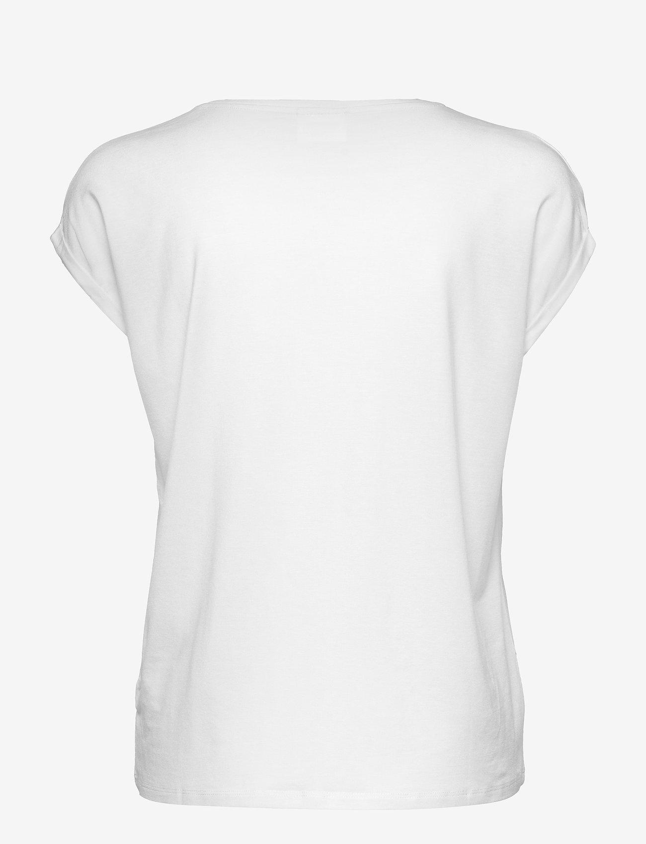 Vero Moda - VMAVA PLAIN SS TOP GA NOOS - t-shirts - snow white