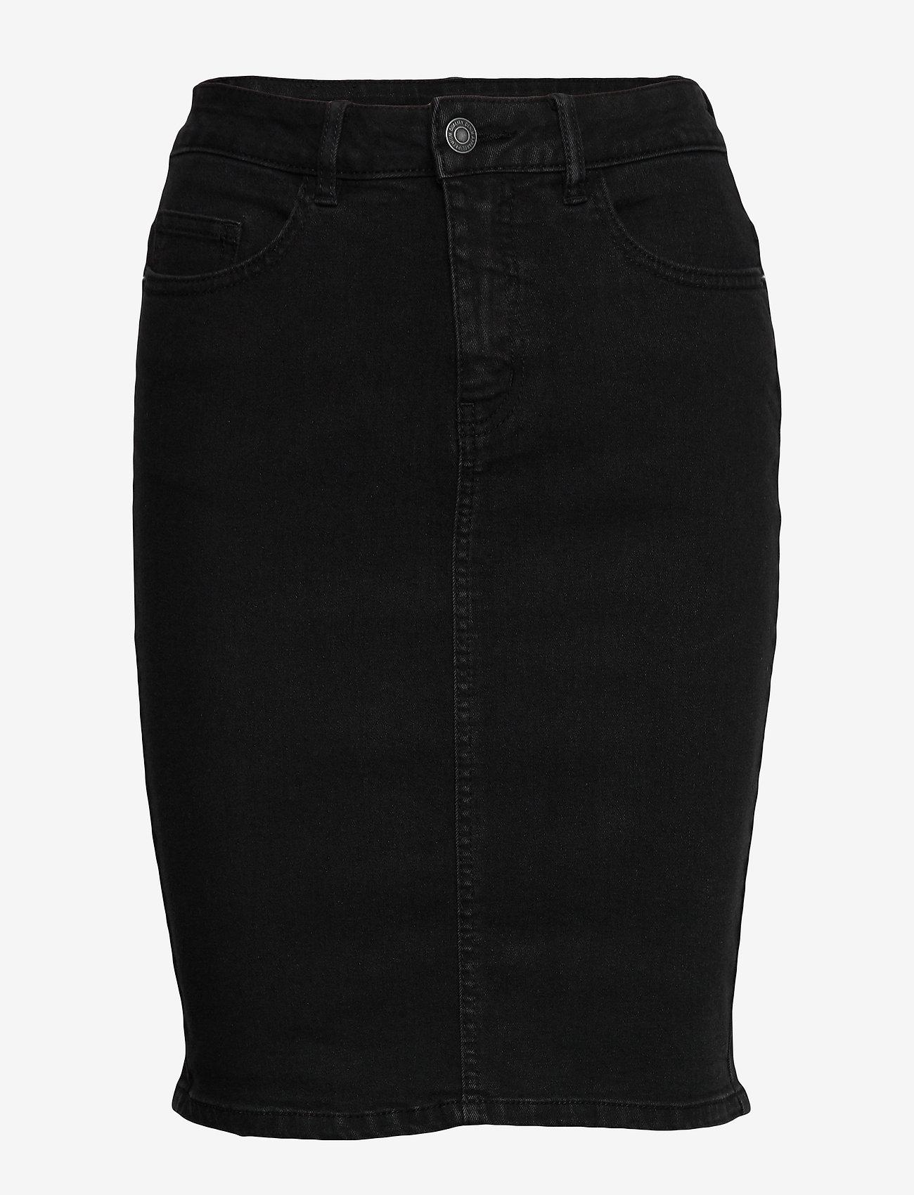 Vero Moda - VMHOT NINE HW DNM PENCIL SKIRT GA - jeanskjolar - black - 0