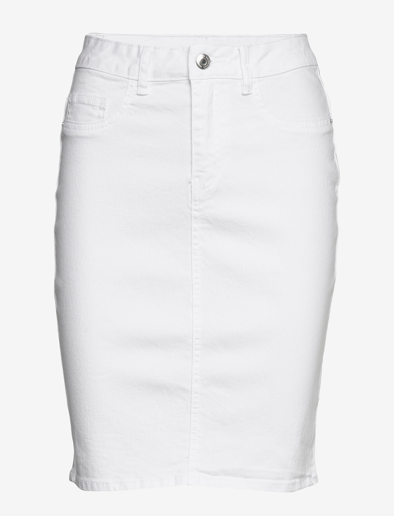 Vero Moda - VMHOT NINE HW DNM PENCIL SKIRT GA NOOS - jeanskjolar - bright white - 0