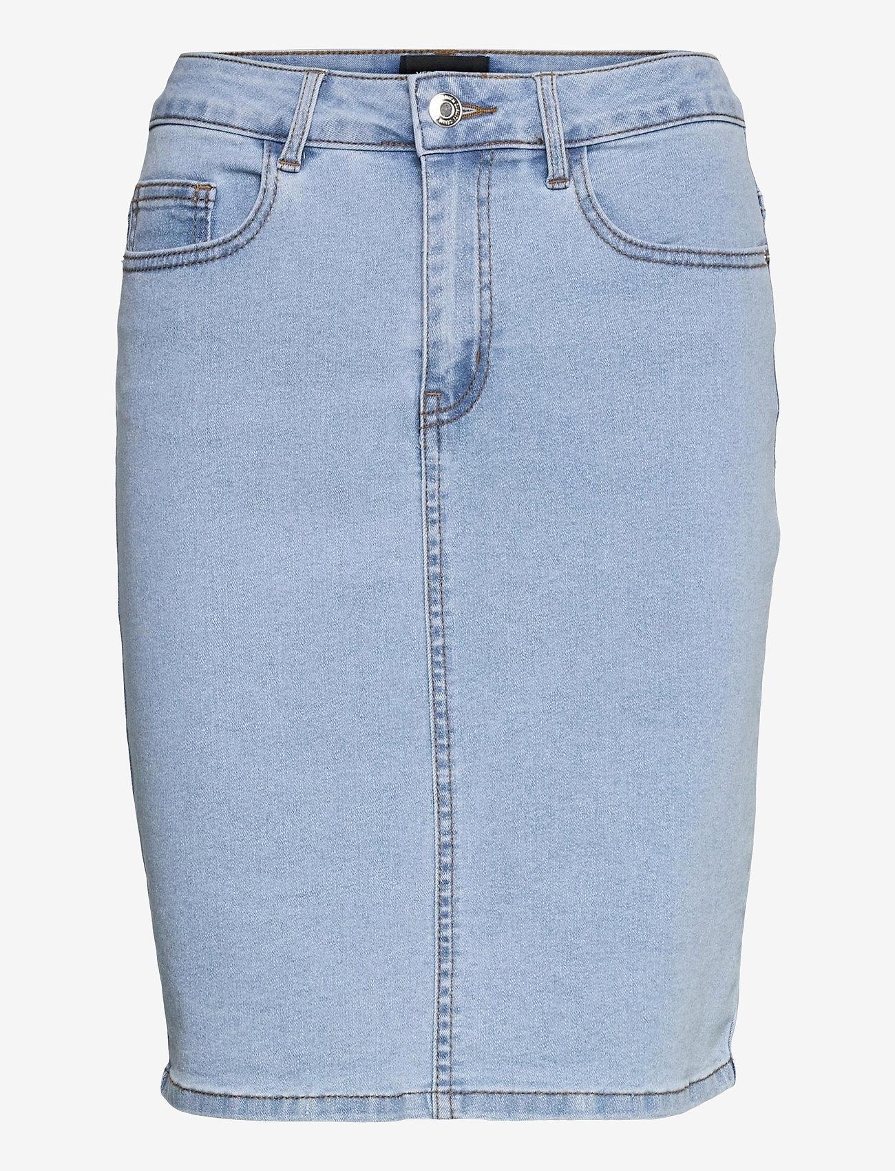 Vero Moda - VMHOT NINE HW DNM PENCIL SKIRT GA - jeanskjolar - light blue denim - 0