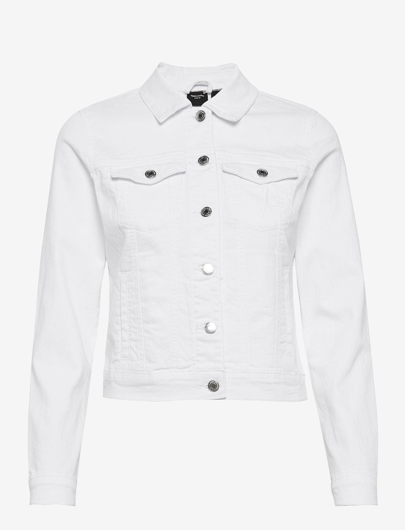 Vero Moda - VMHOT SOYA LS DENIM JACKET MIX GA - jeansjackor - bright white - 0