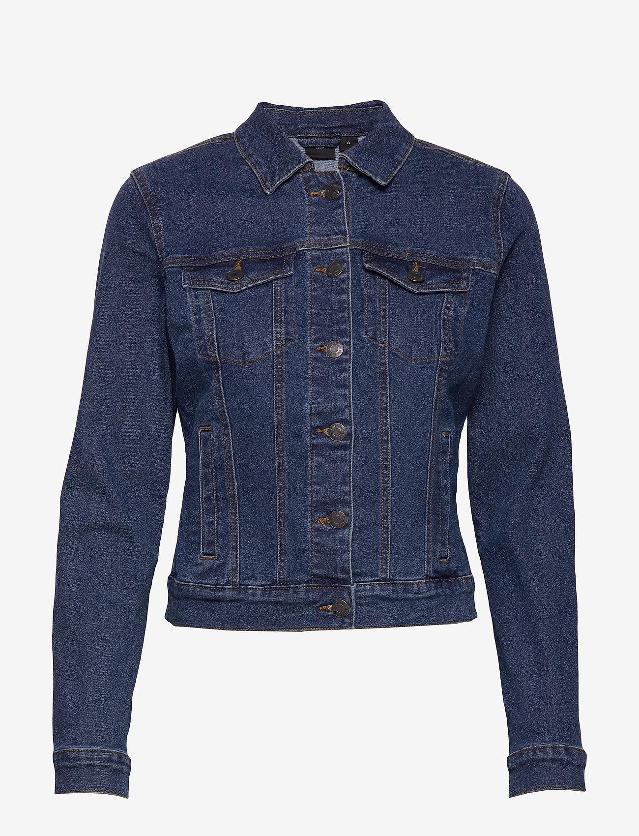 Vero Moda - VMHOT SOYA LS DENIM JACKET MIX GA - jeansjackor - medium blue denim - 0