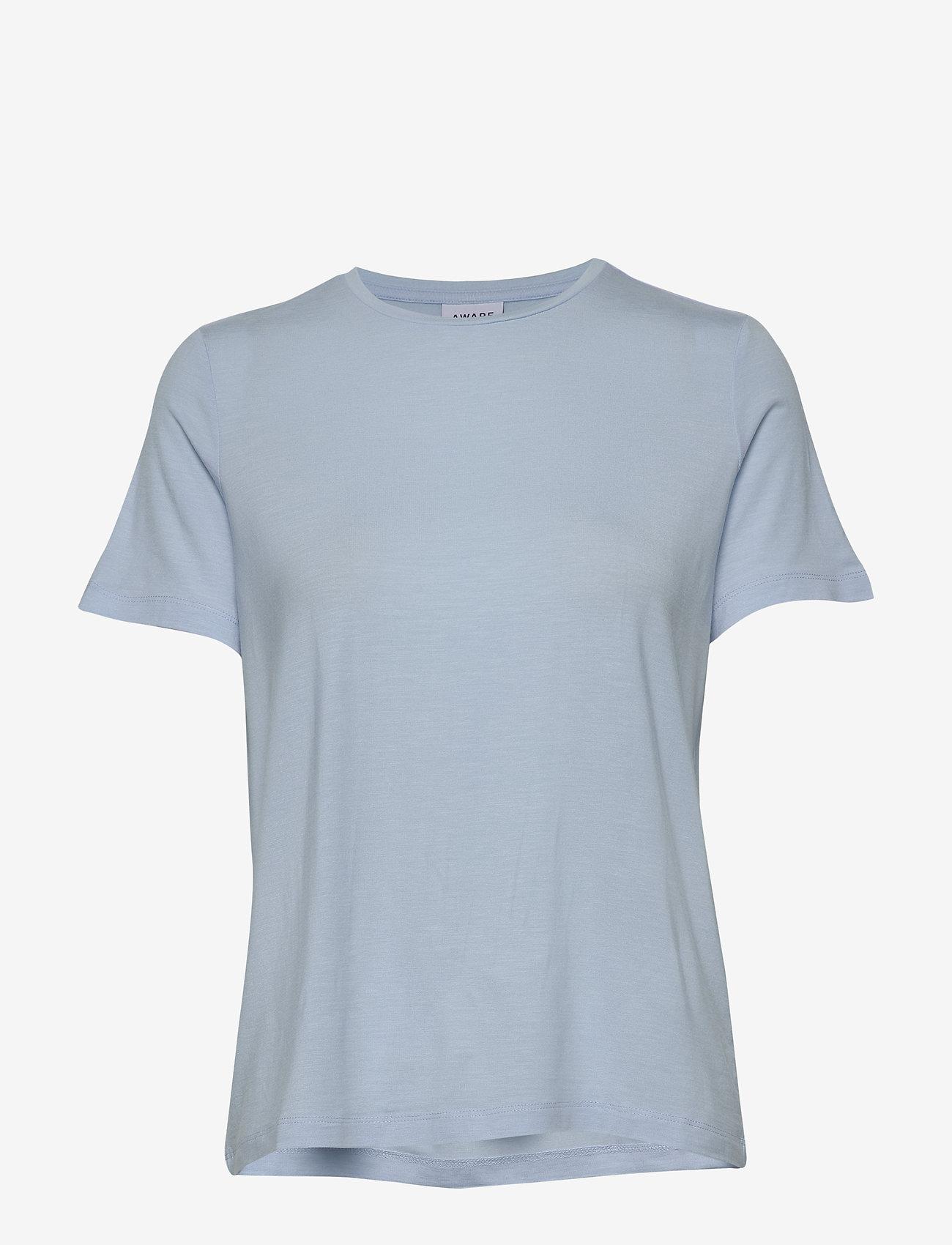 Vero Moda - VMAVA SS TOP VMA - t-shirts - cashmere blue - 0