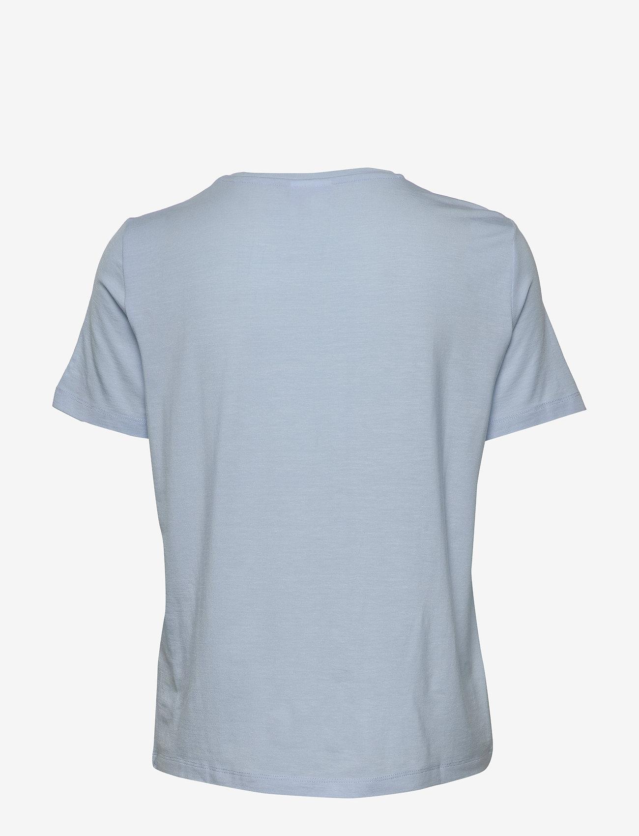 Vero Moda - VMAVA SS TOP VMA - t-shirts - cashmere blue - 1