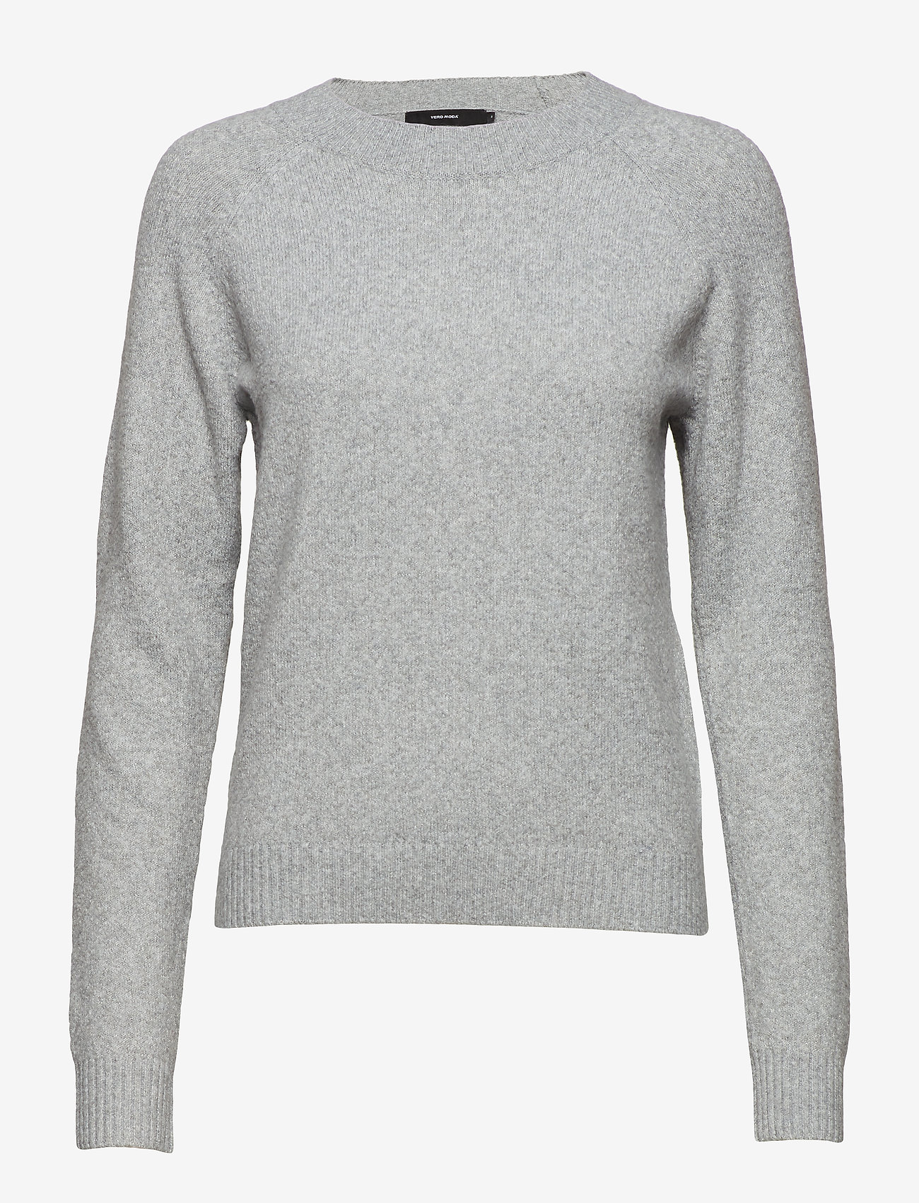 Vero Moda - VMDOFFY LS O-NECK BLOUSE GA - tröjor - light grey melange - 0