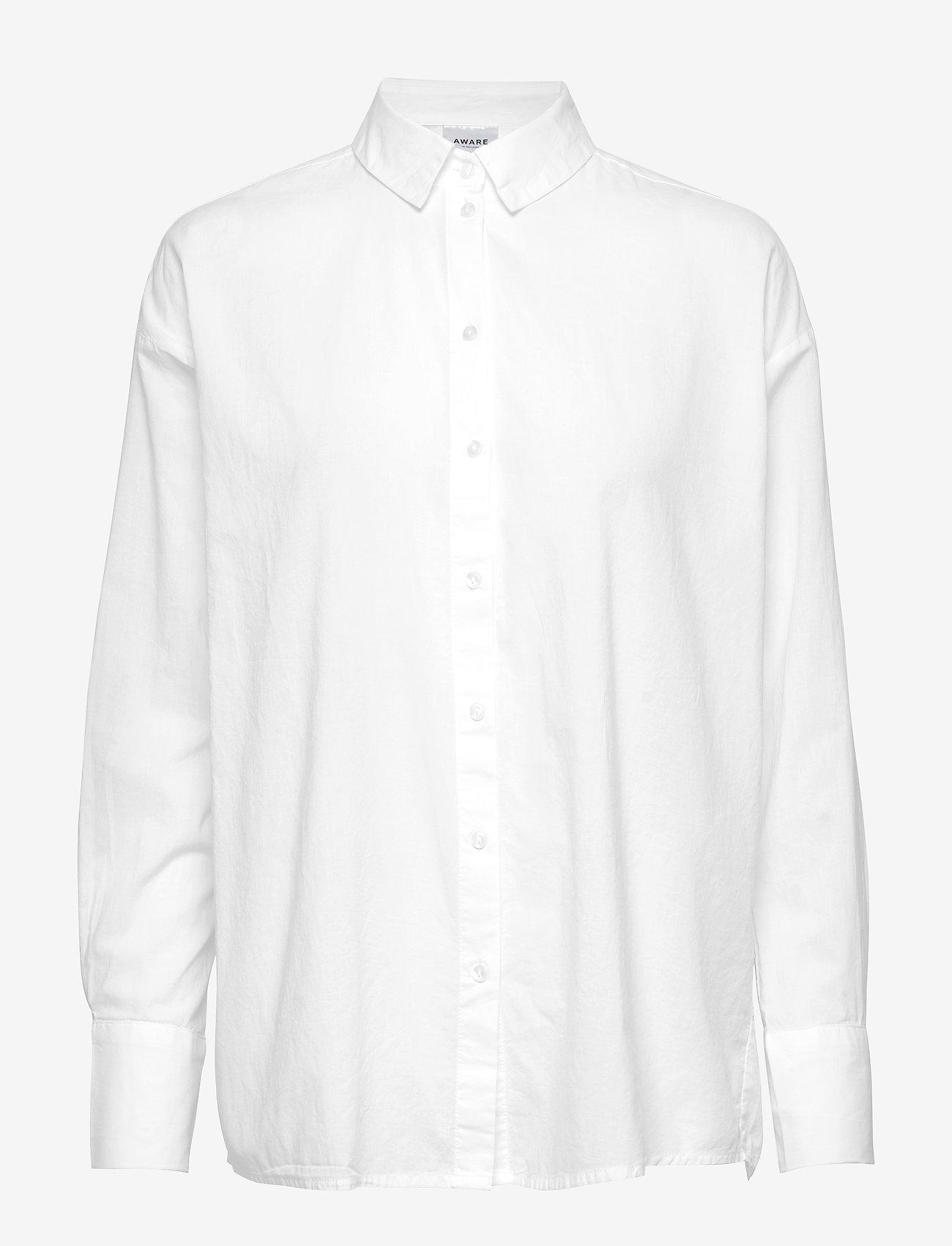 Vero Moda - VMINDIA LOOSE LS SHIRT VMA - långärmade skjortor - snow white - 0