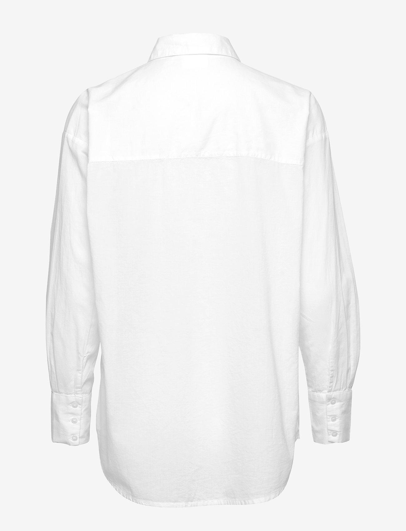 Vero Moda - VMINDIA LOOSE LS SHIRT VMA - långärmade skjortor - snow white - 1