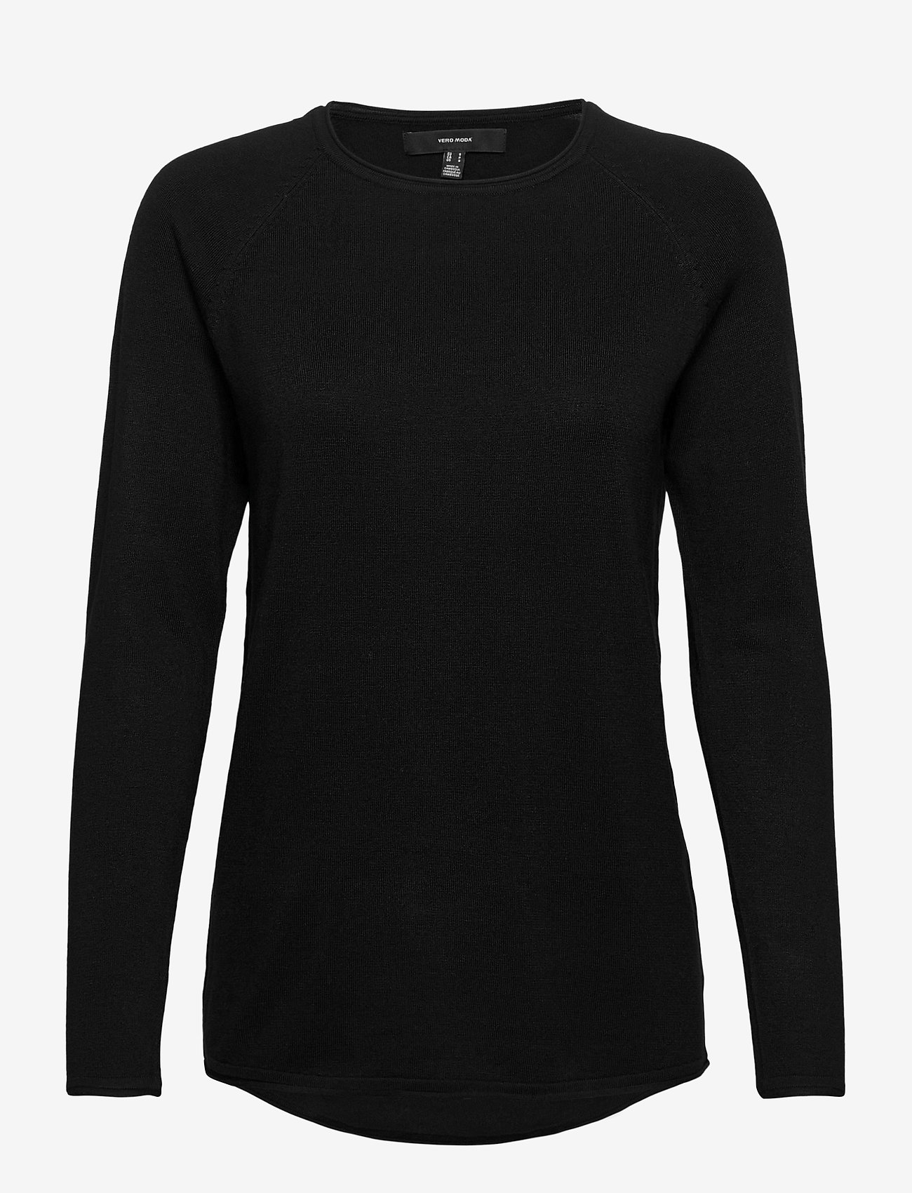 Vero Moda - VMNELLIE GLORY LS LONG BLOUSE - tröjor - black - 0