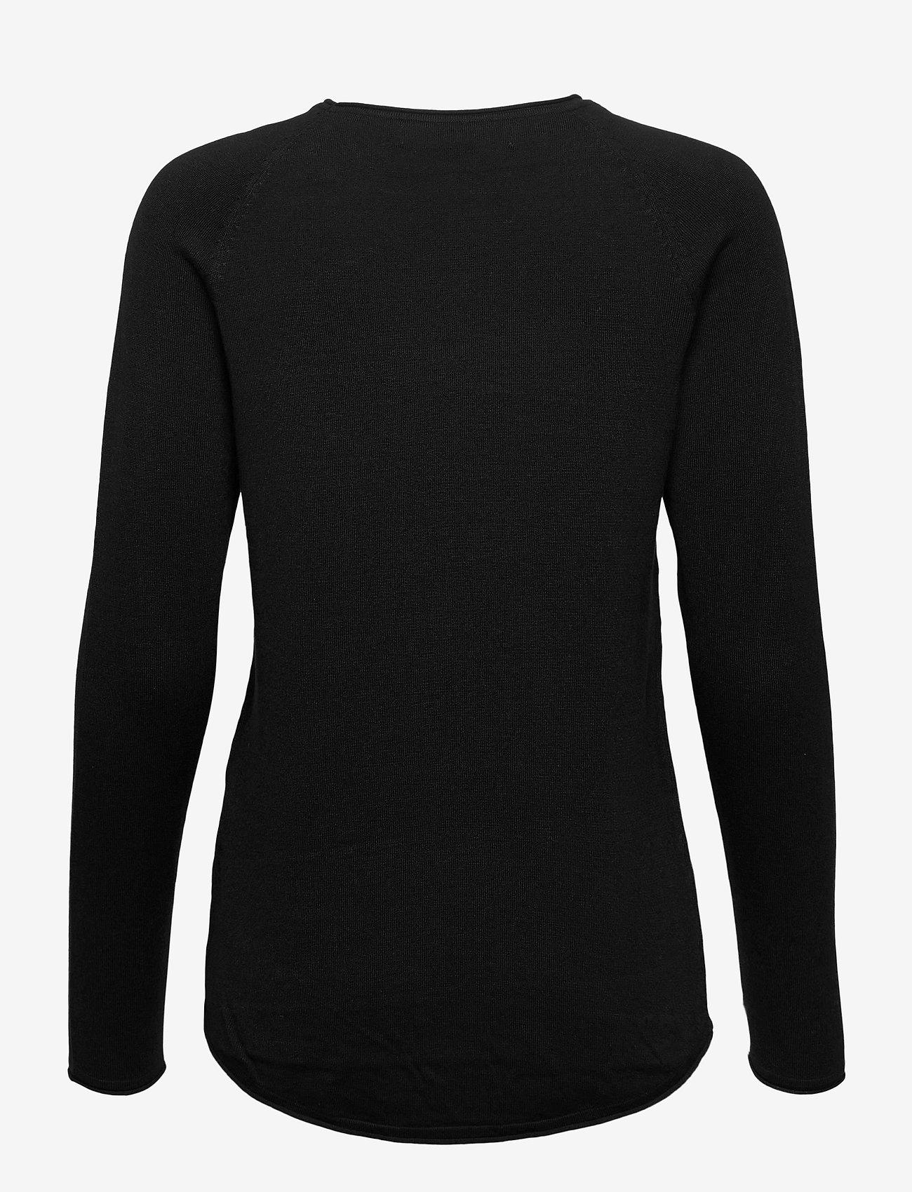 Vero Moda - VMNELLIE GLORY LS LONG BLOUSE - tröjor - black - 1