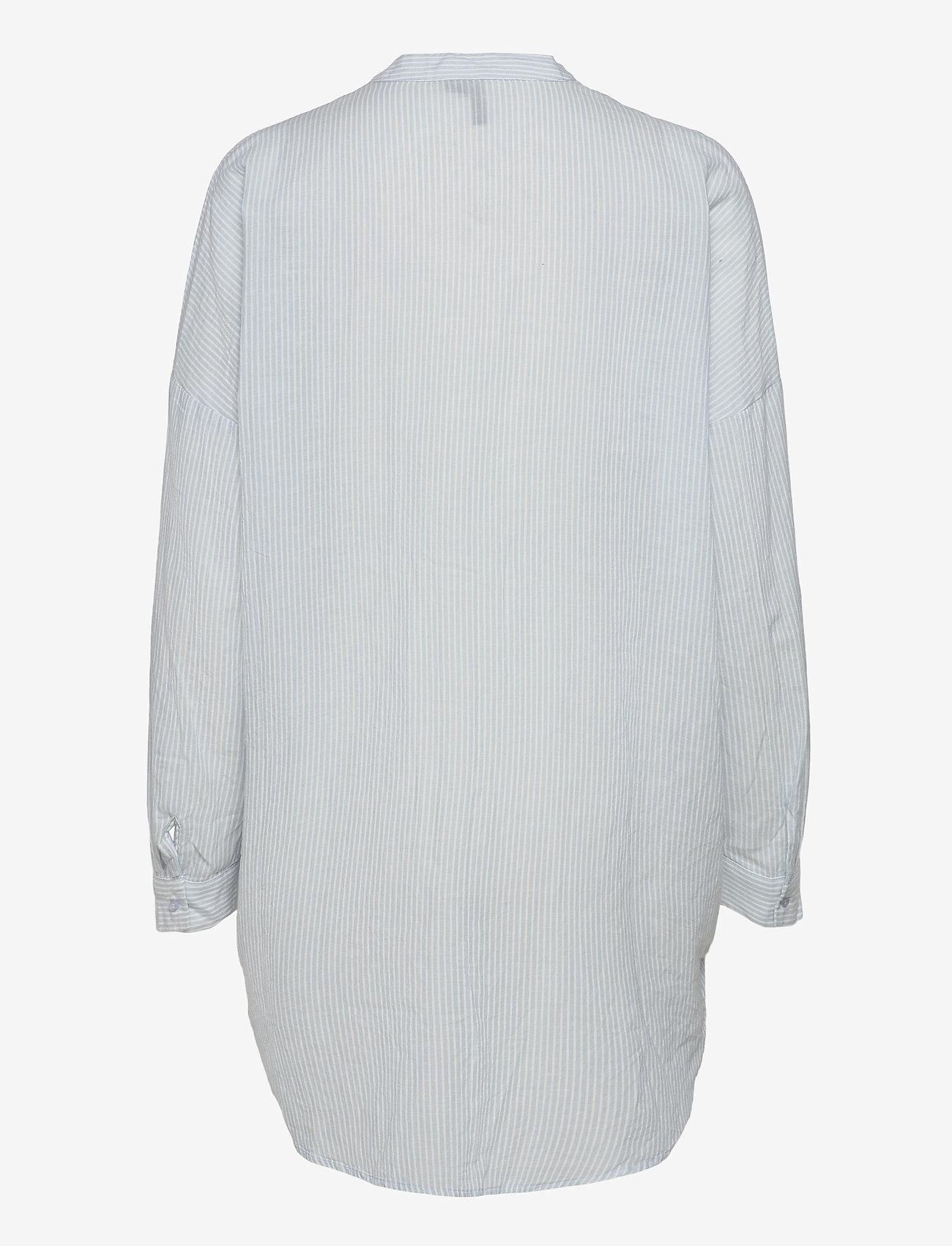 Vero Moda - VMISABELL L/S FOLD UP TUNIC - tunikor - blue fog - 1