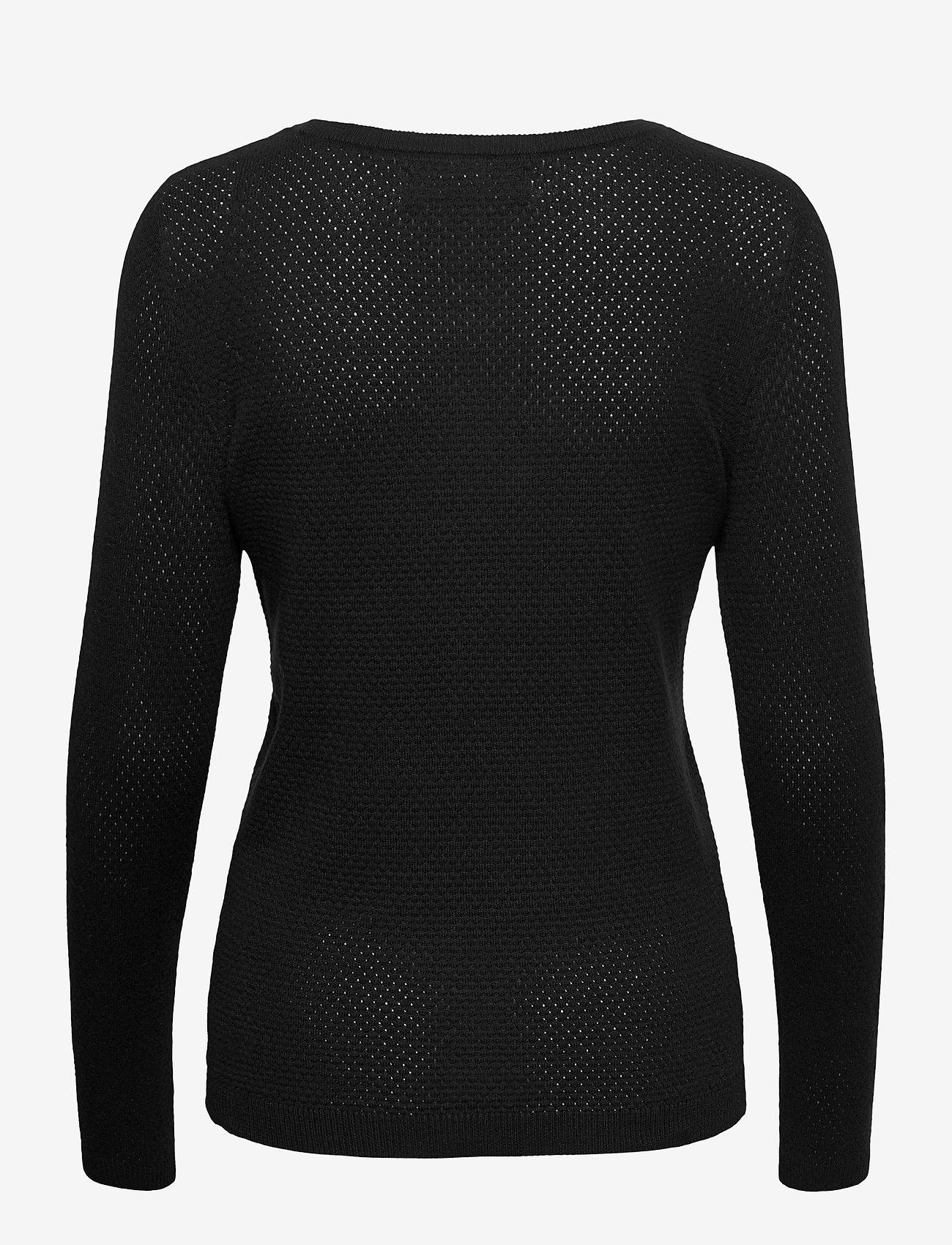 Vero Moda - VMMINNIECARE LS O-NECK BLOUSE GA - tröjor - black - 1
