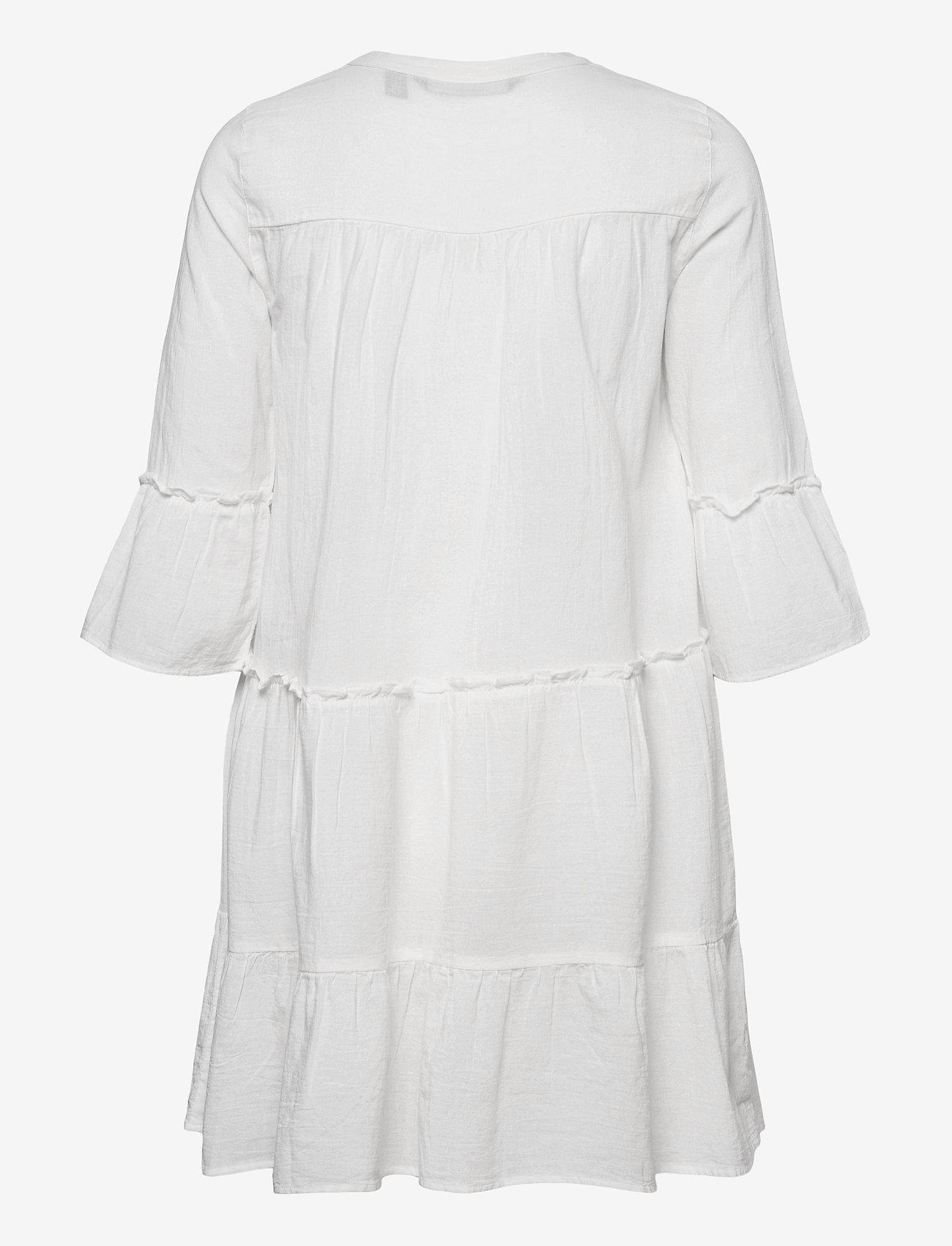 Vero Moda - VMHELI 3/4 SHORT DRESS WVN GA - sommarklänningar - snow white - 1