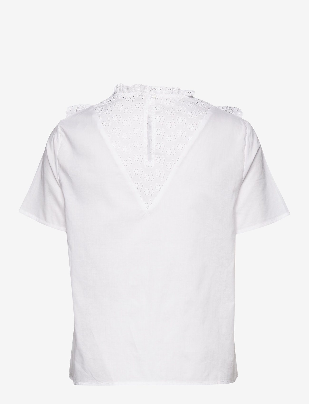 Vero Moda - VMHALO SS TOP WVN GA - short-sleeved blouses - snow white