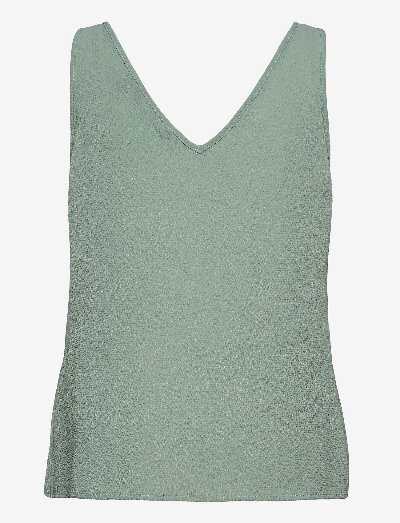 Vero Moda - VMSASHA SL BUTTON TOP COLOR - Ärmlösa blusar - jadeite - 1
