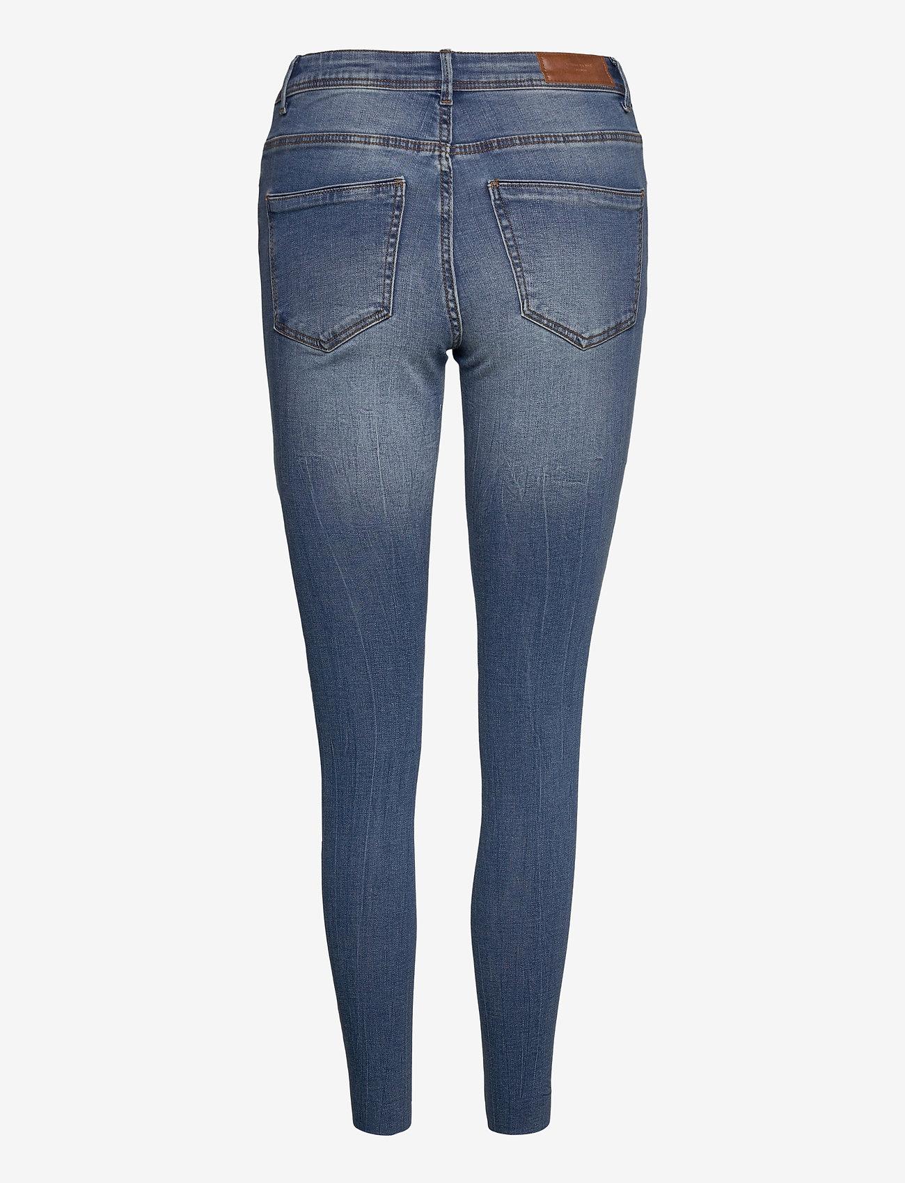 Vero Moda - VMTANYA MR S PIPING DS CUT VI349 GA - skinny jeans - medium blue denim - 1