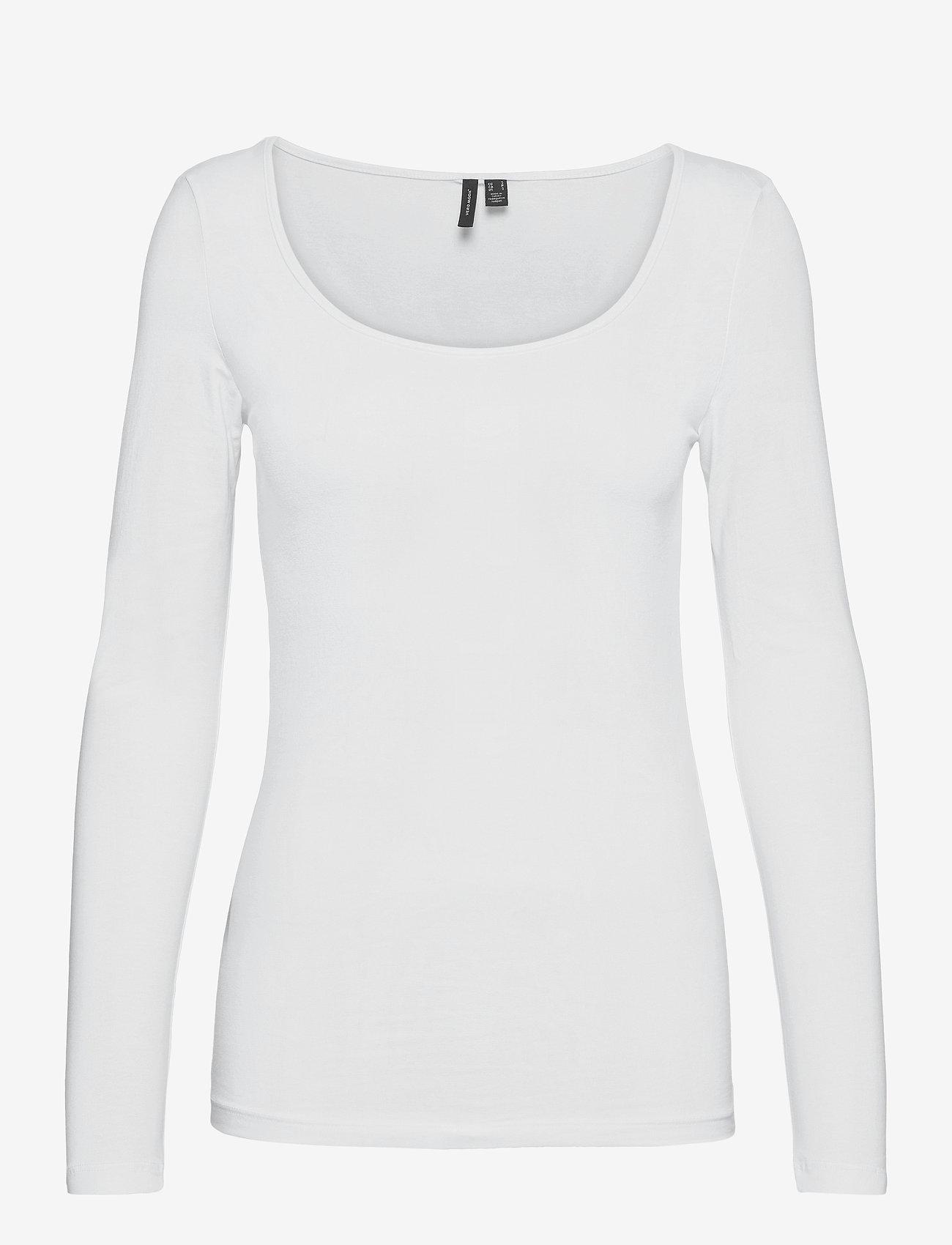 Vero Moda - VMMAXI MY LS SOFT UNECK GA - långärmade toppar - bright white - 0
