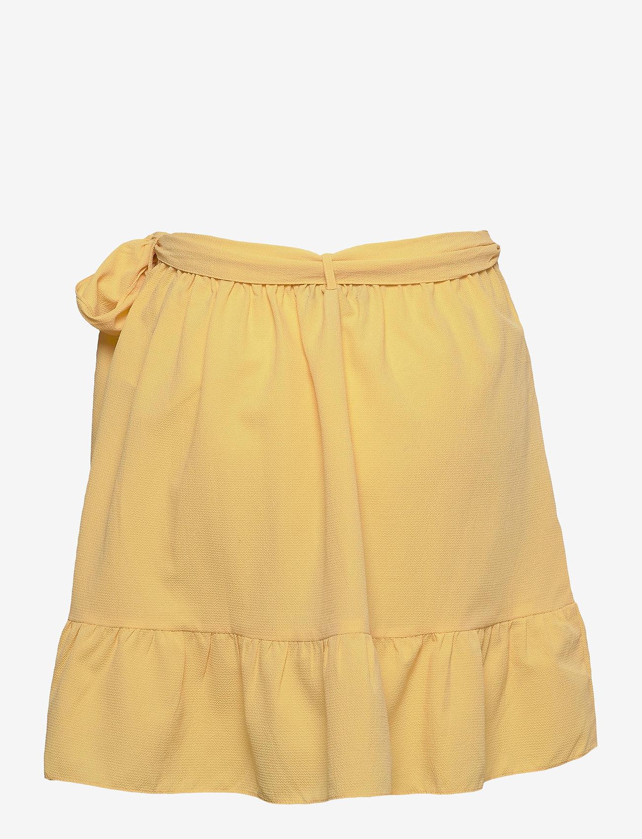 Vero Moda - VMCITA BOBBLE WRAP SKIRT COLOR - korta kjolar - cornsilk - 1
