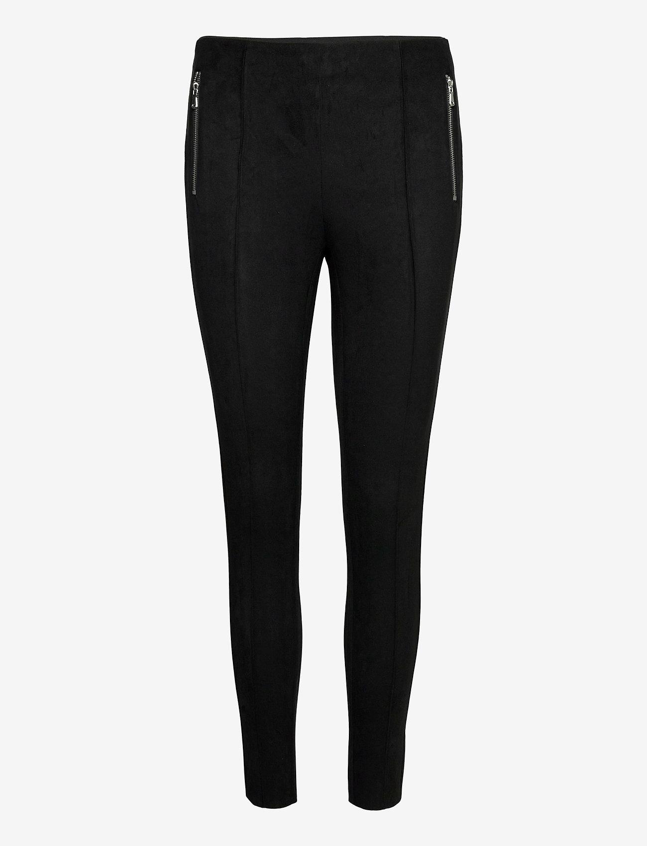 Vero Moda - VMCAVA ZIP NW FAUX SUEDE LEGGING JRS BOO - leggings - black - 0
