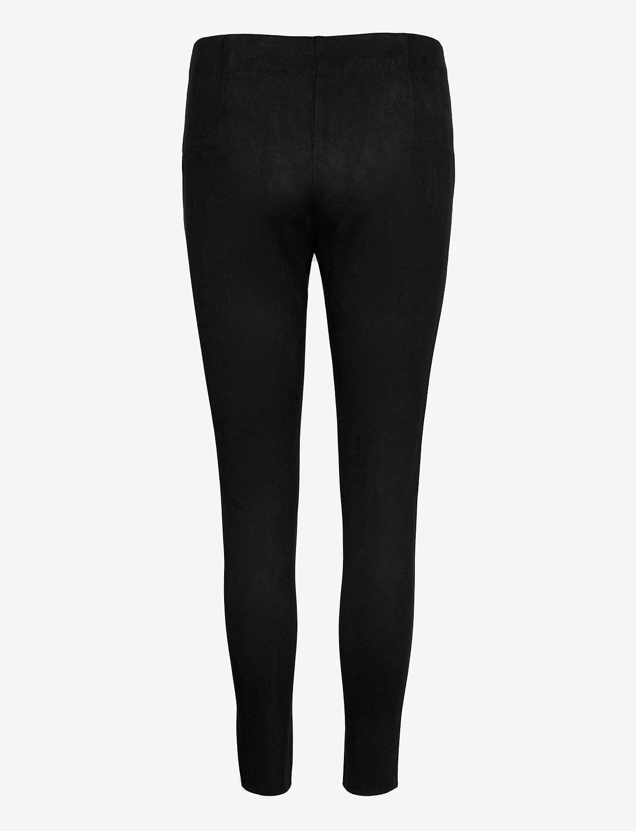 Vero Moda - VMCAVA ZIP NW FAUX SUEDE LEGGING JRS BOO - leggings - black - 1