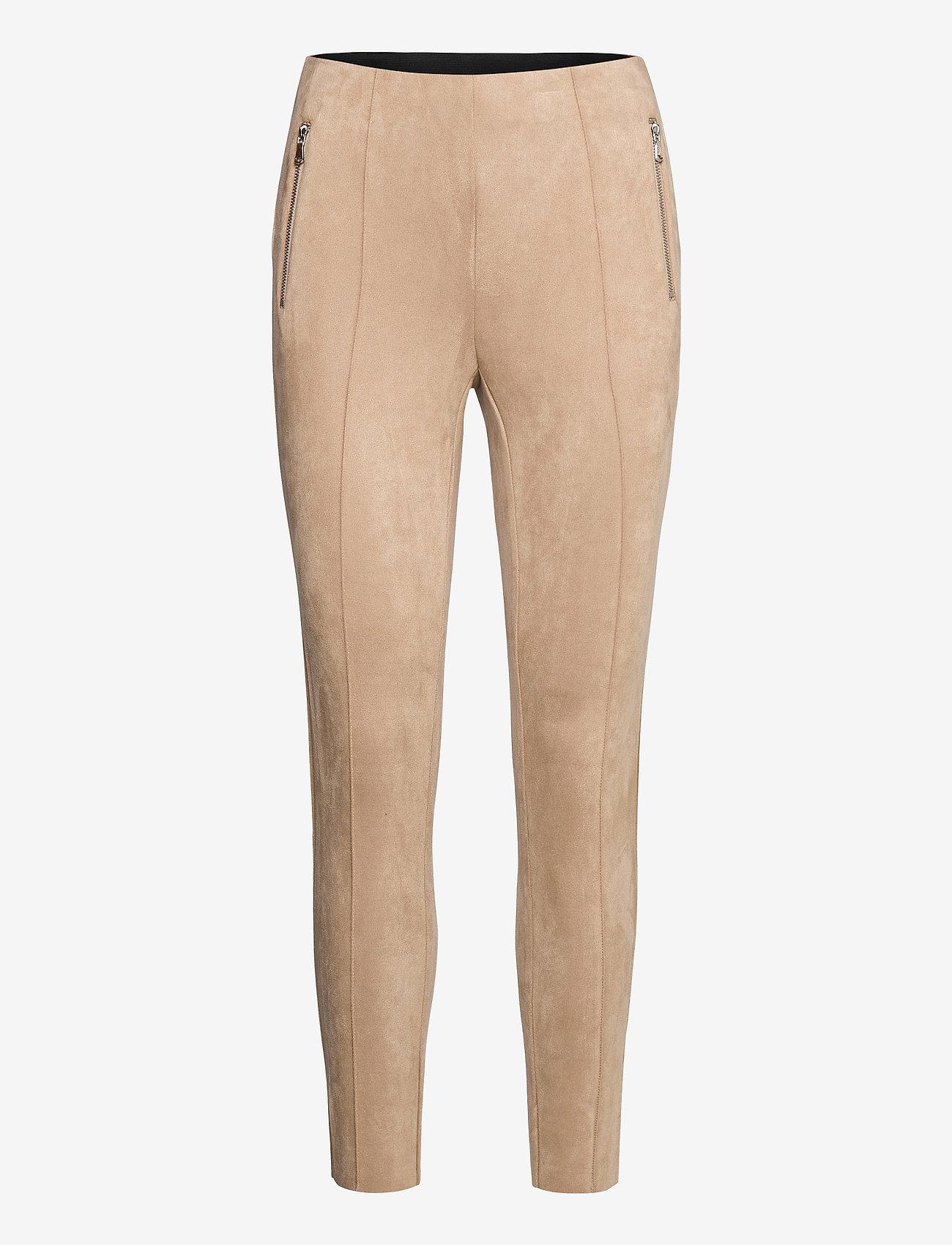 Vero Moda - VMCAVA ZIP NW FAUX SUEDE LEGGING JRS BOO - leggings - nomad - 0