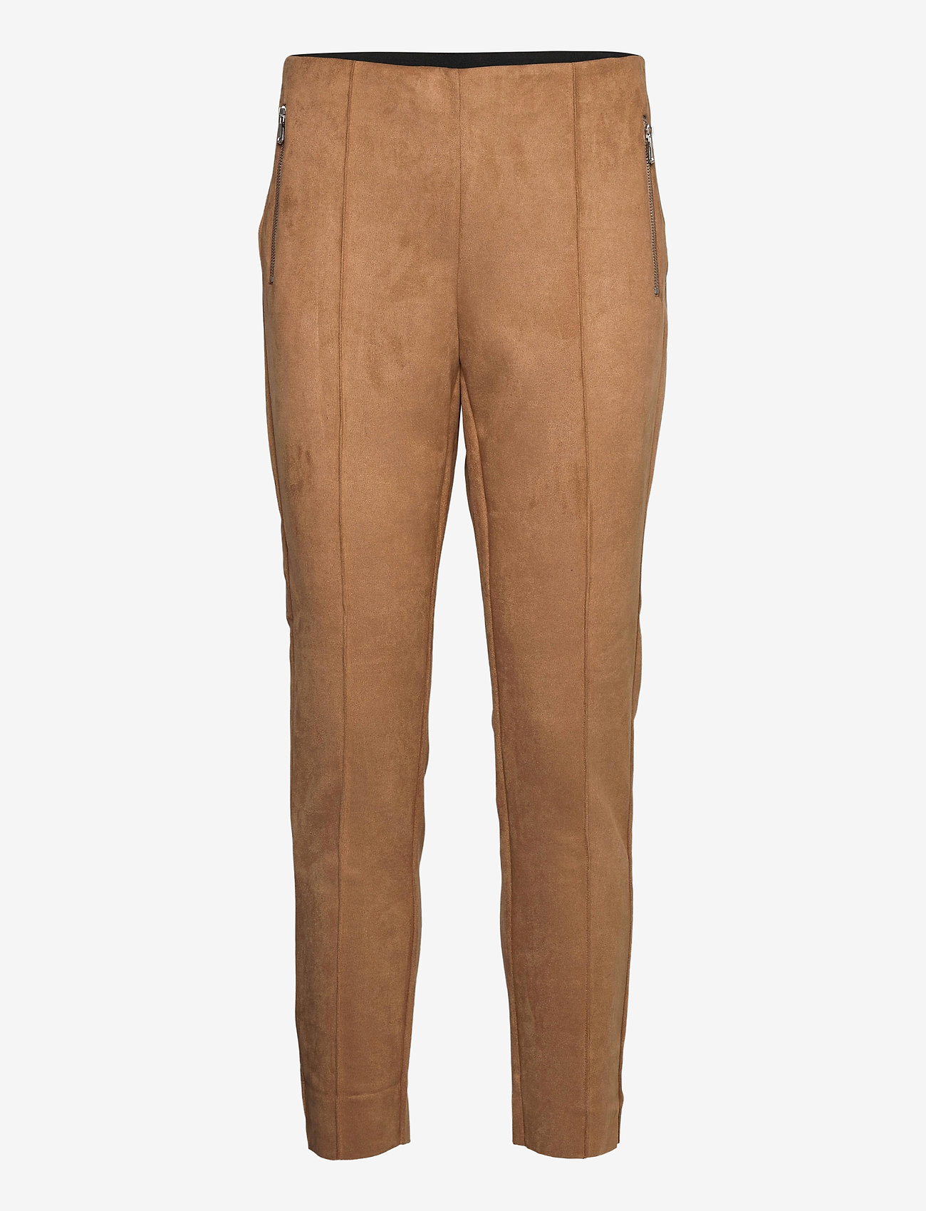 Vero Moda - VMCAVA ZIP NW FAUX SUEDE LEGGING JRS BOO - leggings - tobacco brown - 0