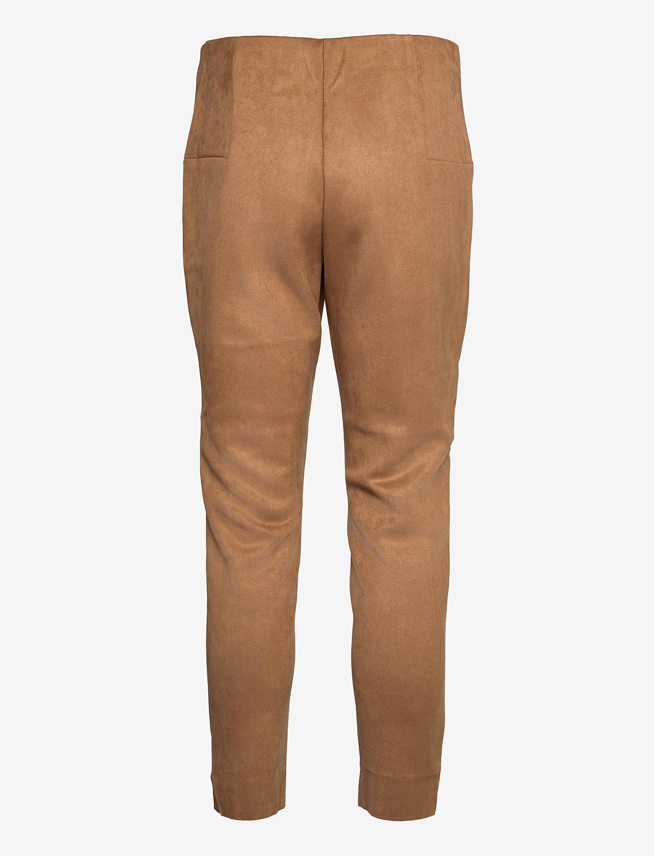 Vero Moda - VMCAVA ZIP NW FAUX SUEDE LEGGING JRS BOO - leggings - tobacco brown - 1