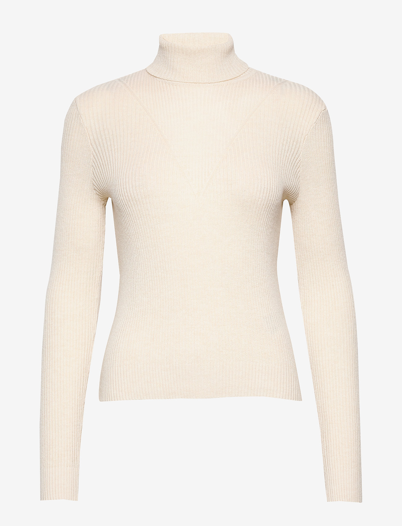 Vero Moda - VMCUTIE LS HIGHNECK BLOUSE - turtlenecks - birch - 0