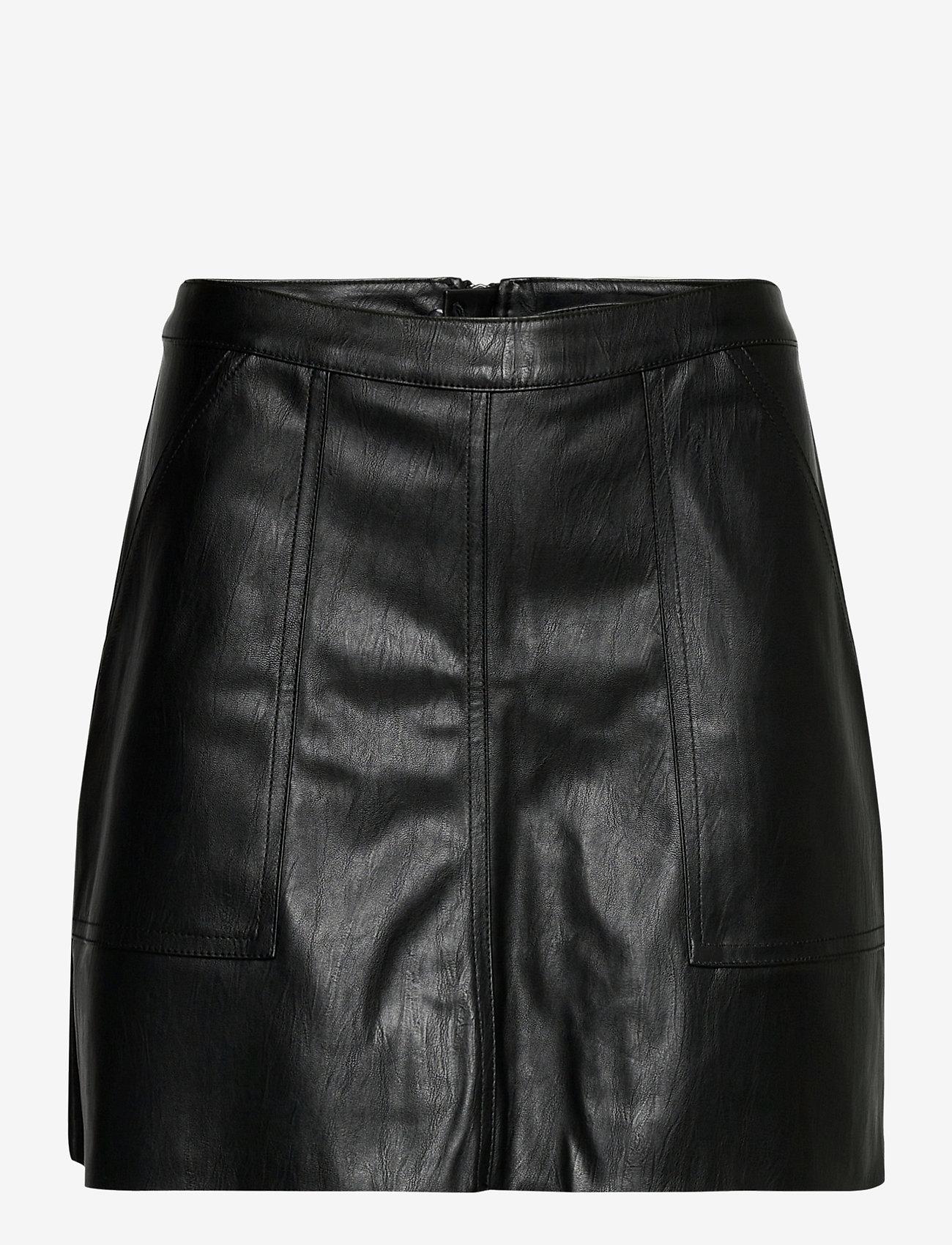 Vero Moda - VMSYLVIA MR PL SHORT SKIRT - korta kjolar - black - 0