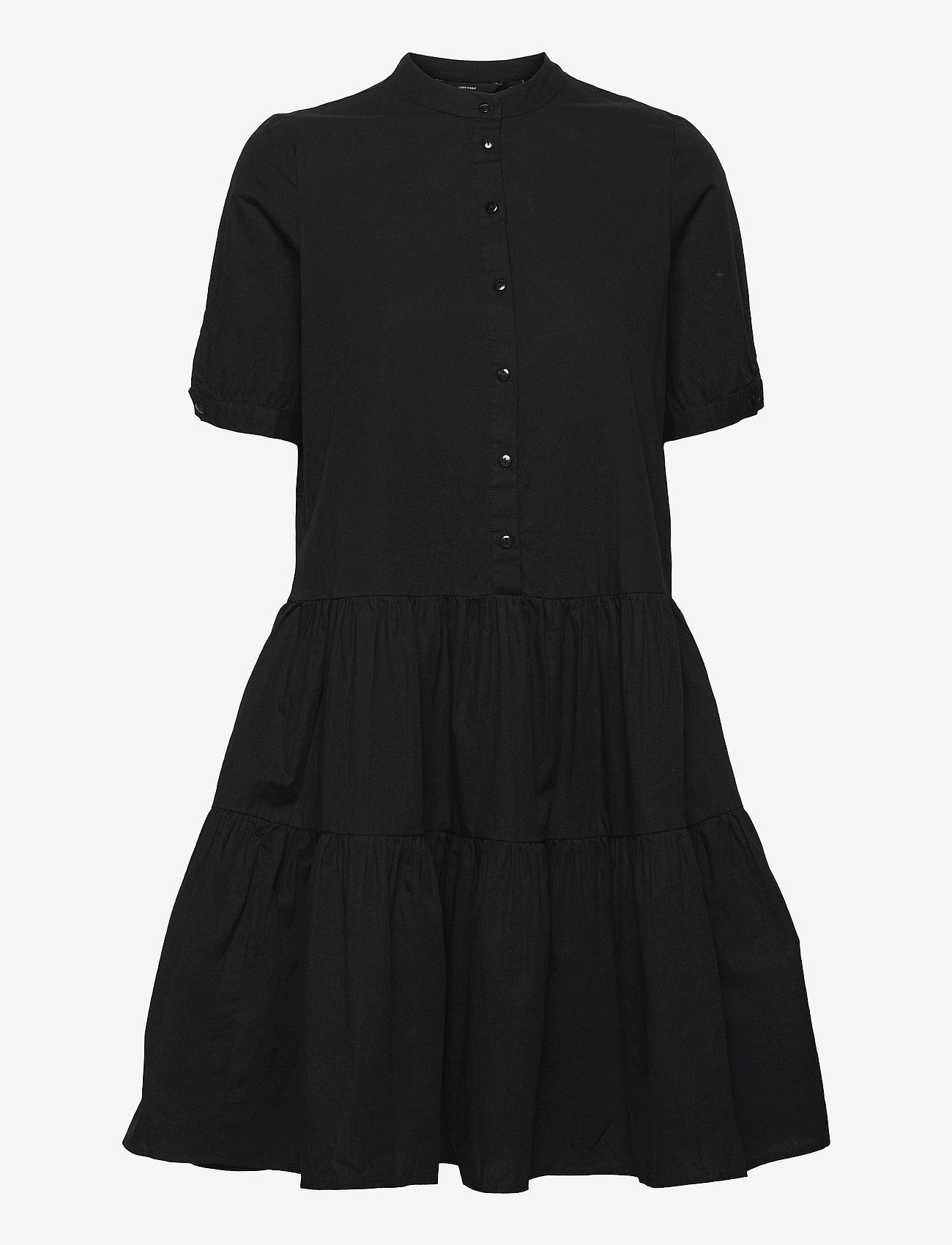 Vero Moda - VMDELTA 2/4 ABK DRESS WVN DA GA KI COLOR - sommarklänningar - black - 0