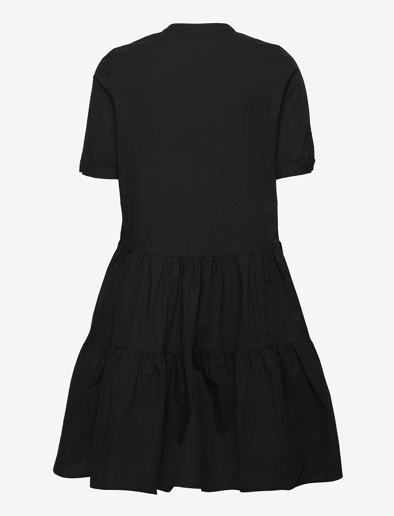 Vero Moda - VMDELTA 2/4 ABK DRESS WVN DA GA KI COLOR - sommarklänningar - black - 1