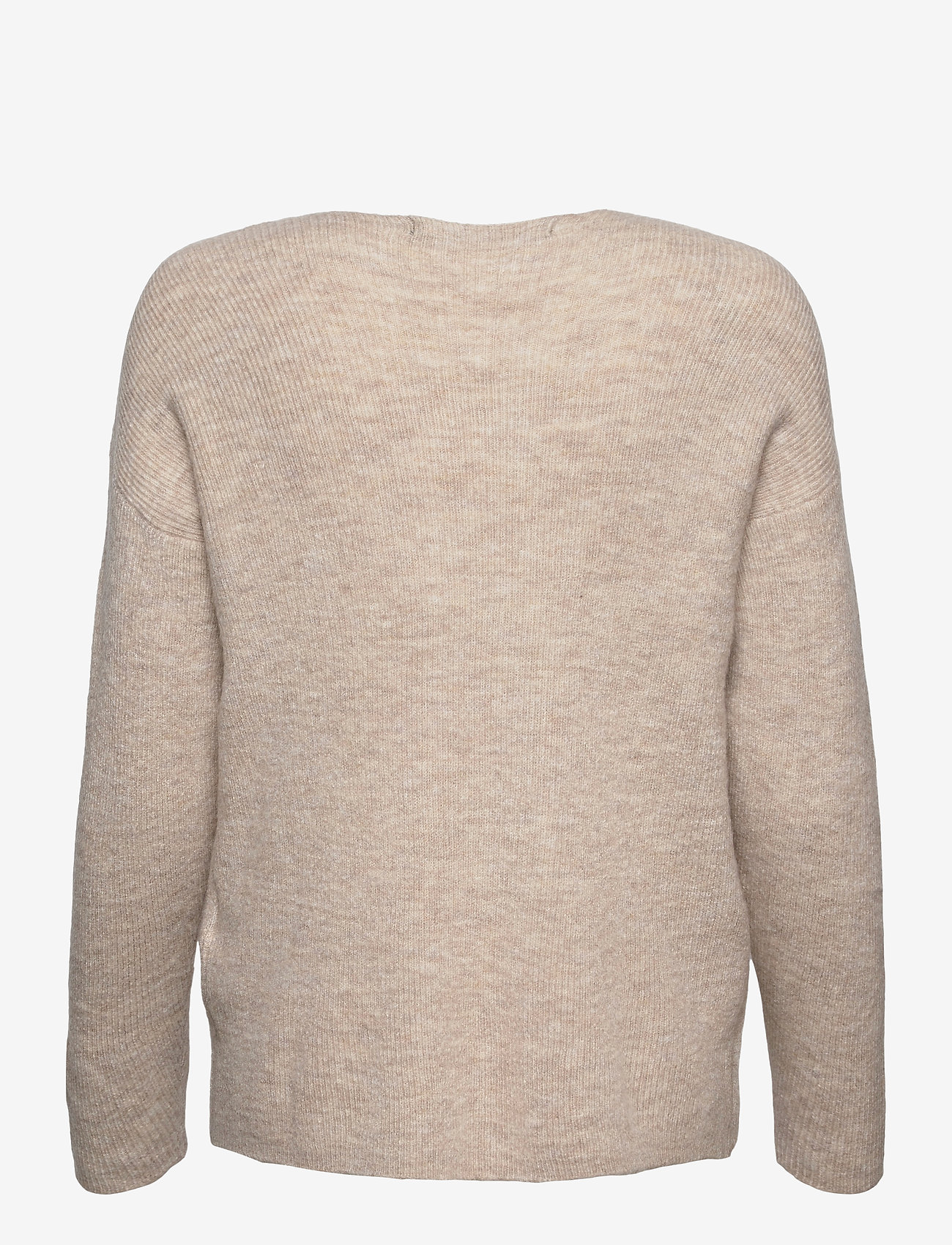 Vero Moda - VMCREWLEFILE LS V-NECK BLOUSE - tröjor - birch - 1
