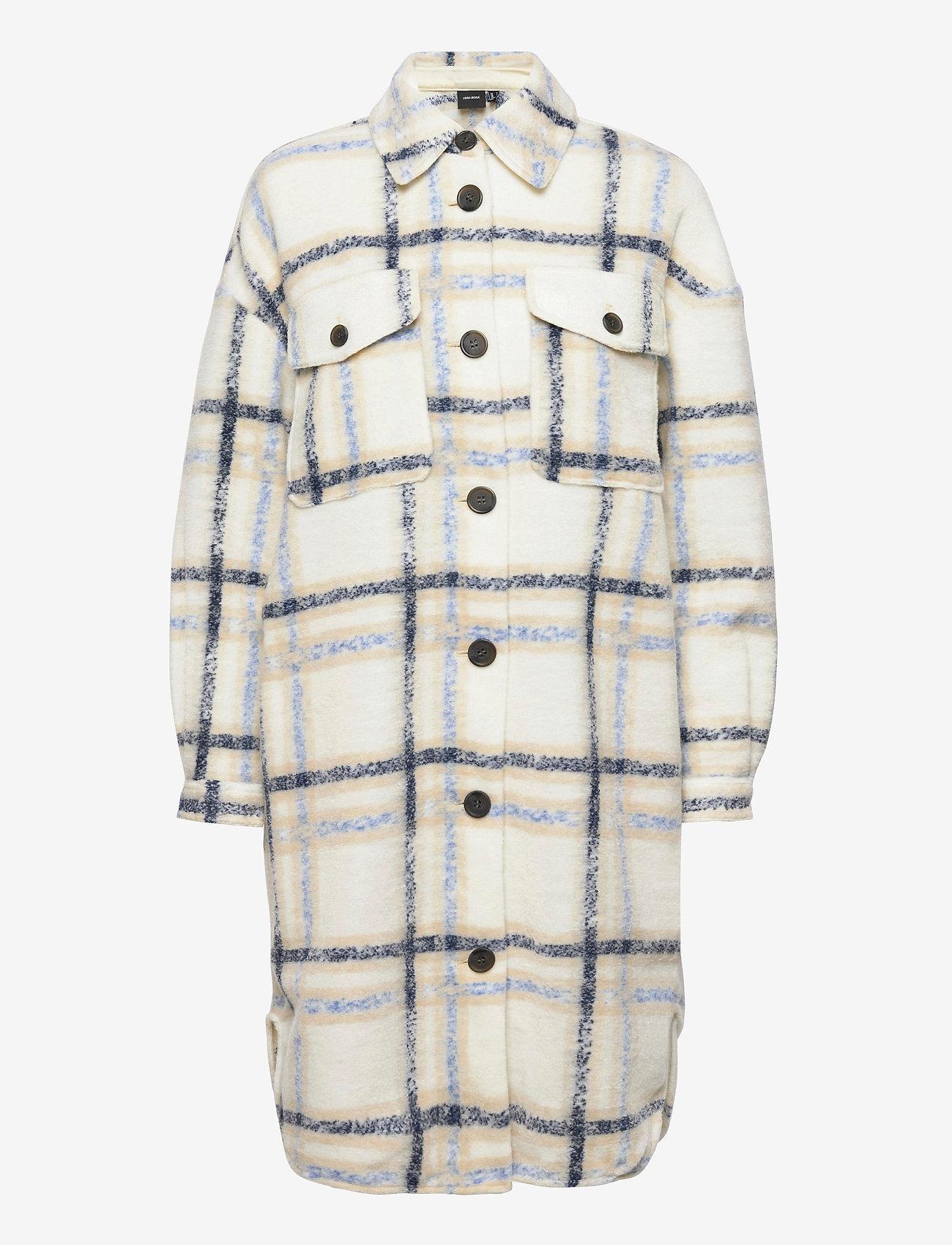 Vero Moda - VMCHRISSIE LONG CHECK SHIRT GA - kläder - birch - 0