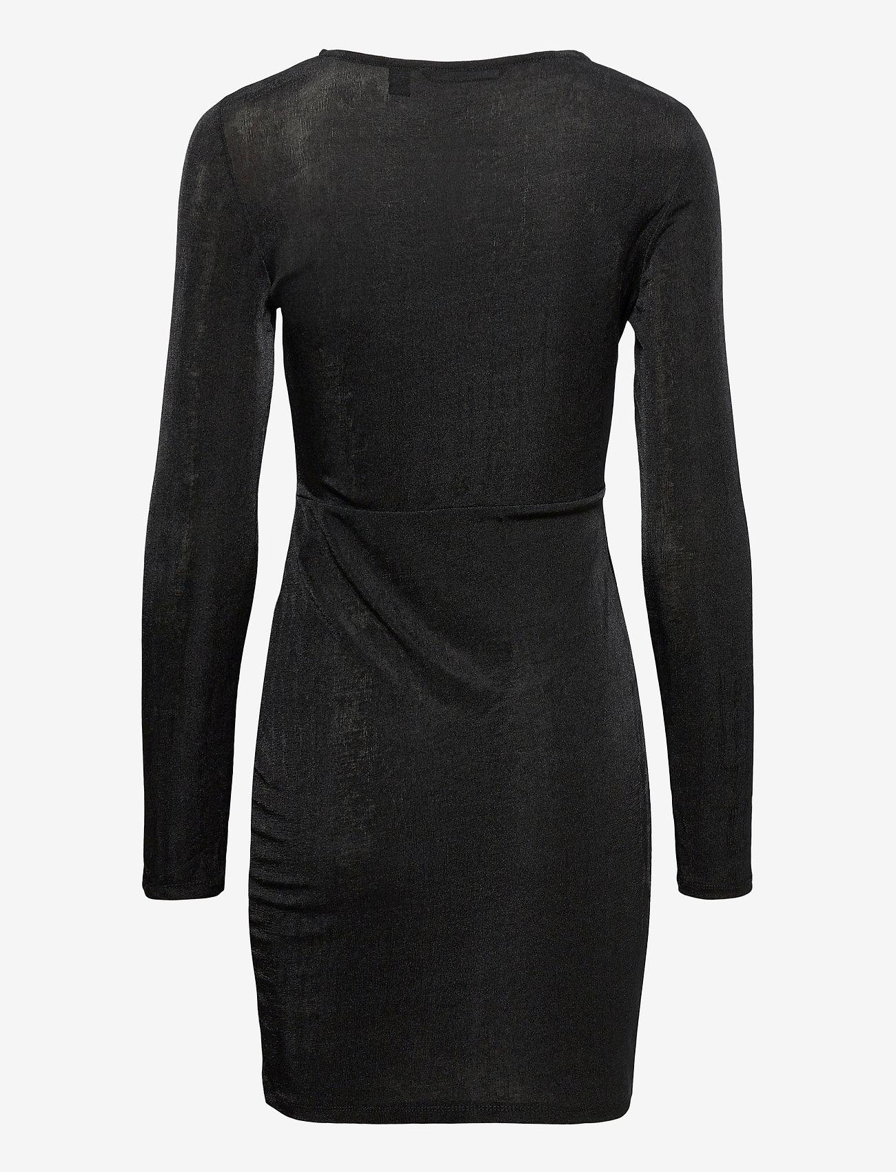 Vero Moda - VMAMIRA LS BLK DRESS JRS - vardagsklänningar - black - 1