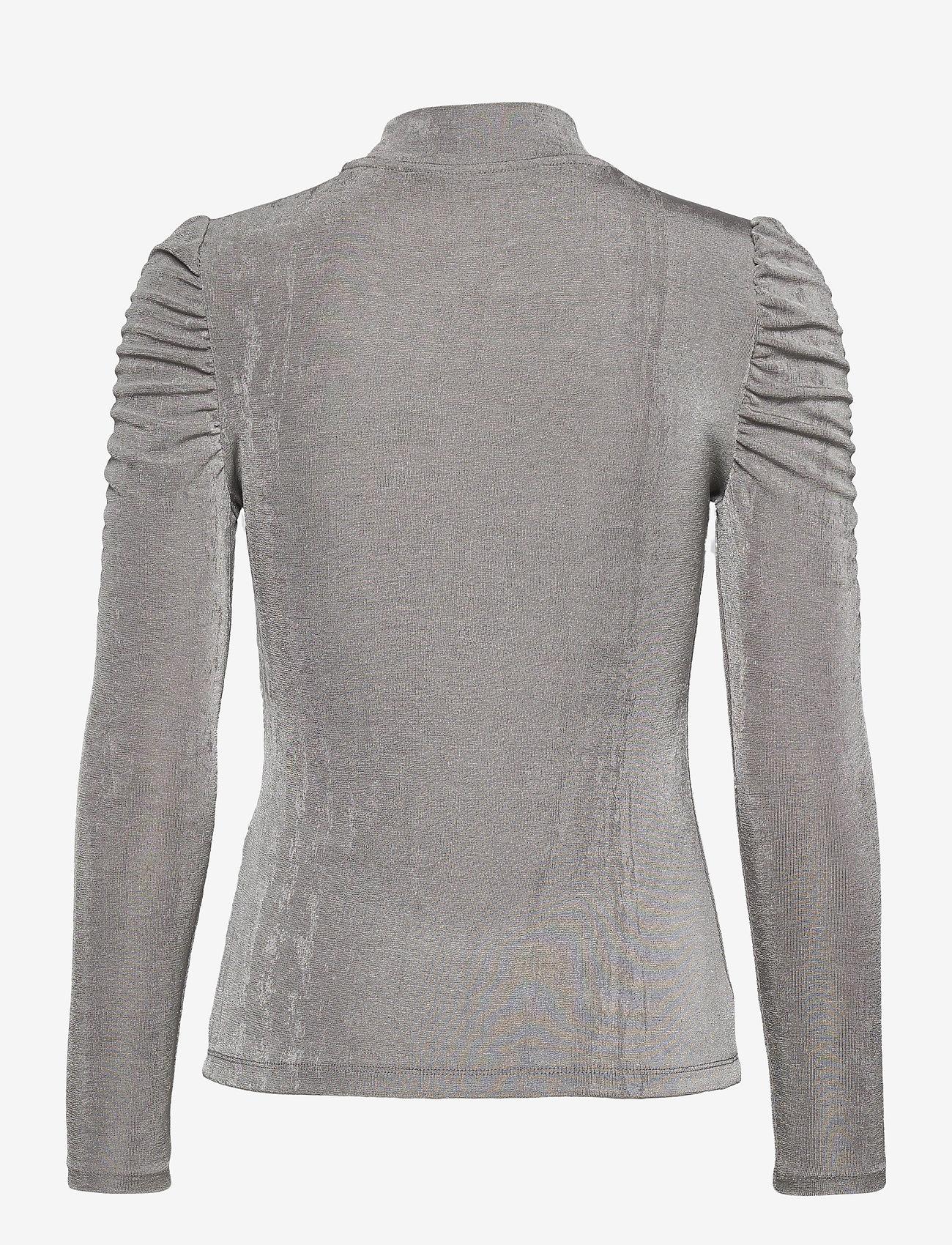 Vero Moda - VMAMIRA LS BLOUSE GA VO - långärmade toppar - frost gray - 1