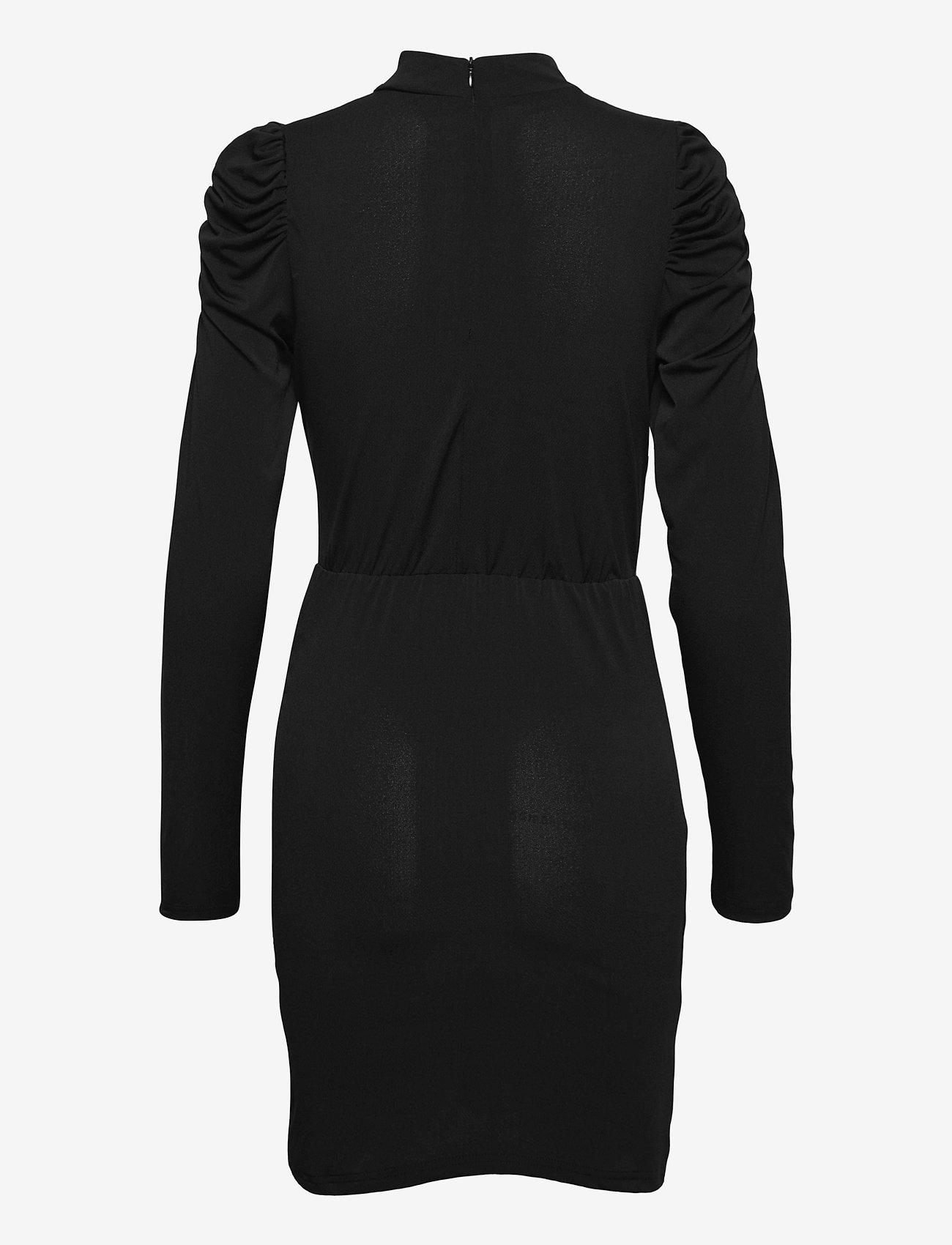 Vero Moda - VMJAYDA LS SHORT DRESS JRS GA BOO - cocktailklänningar - black - 1