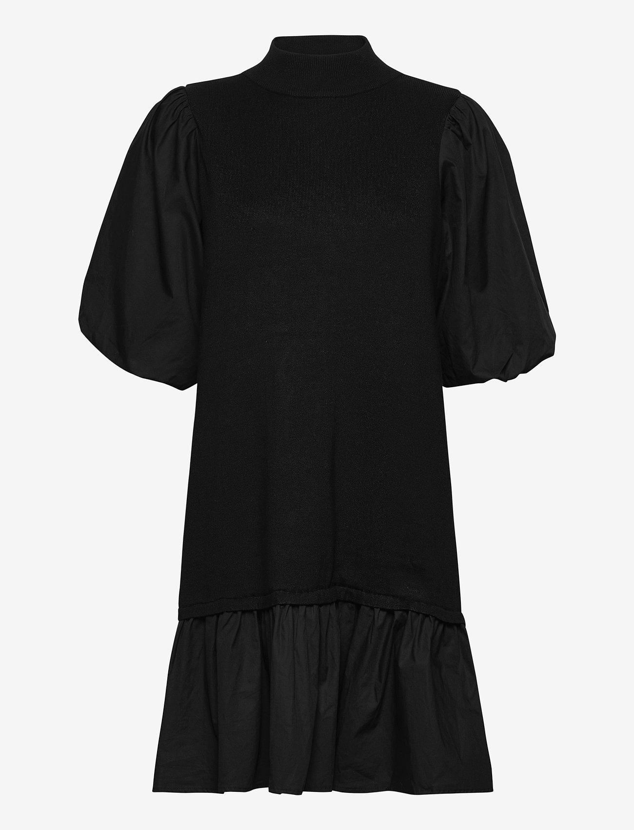 Vero Moda - VMMOEKO SS HIGHNECK DRESS GA - vardagsklänningar - black - 0